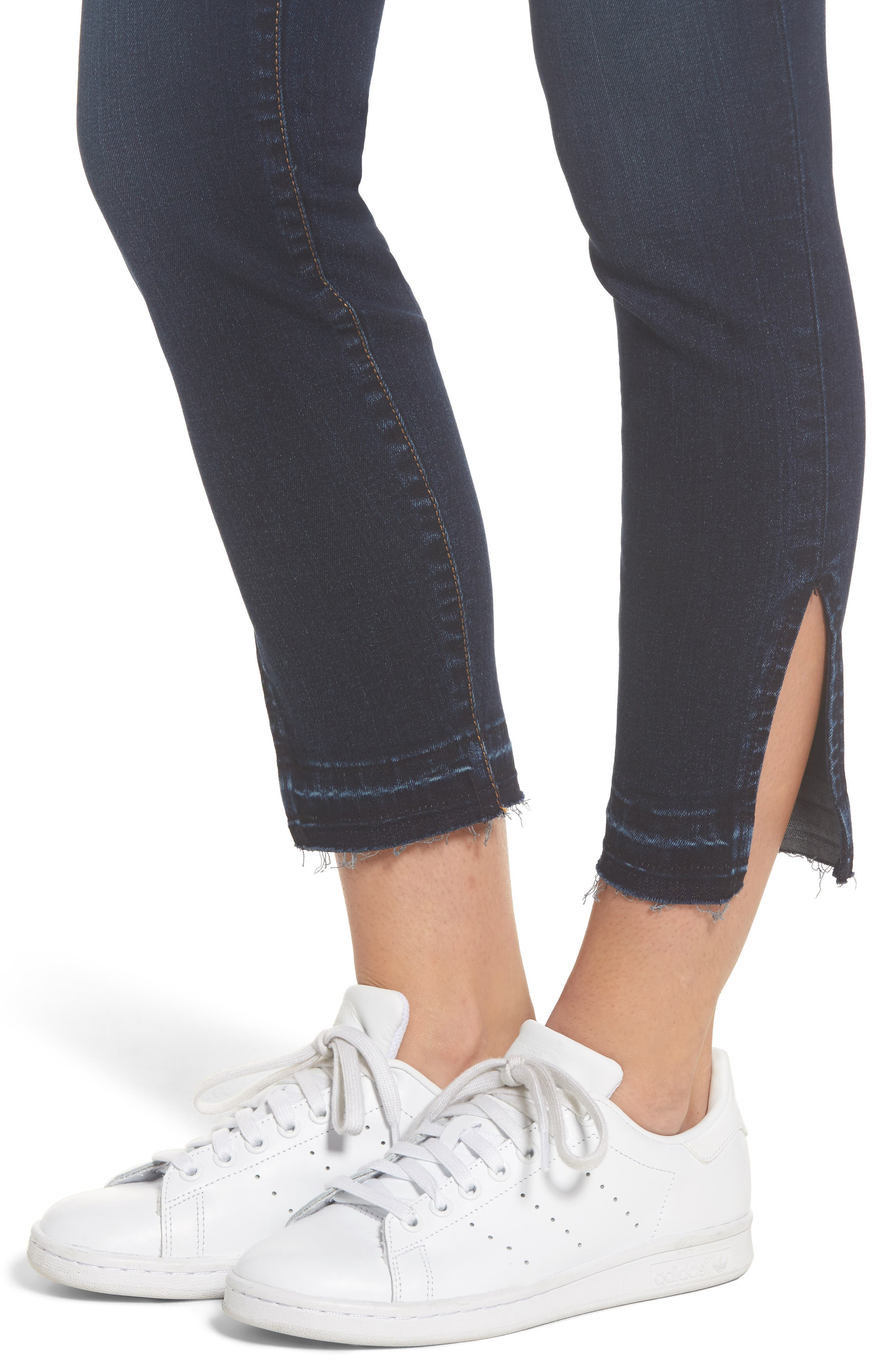 Connie Release Hem Ankle Skinny Jeans,                             Alternate thumbnail 4, color,                             431