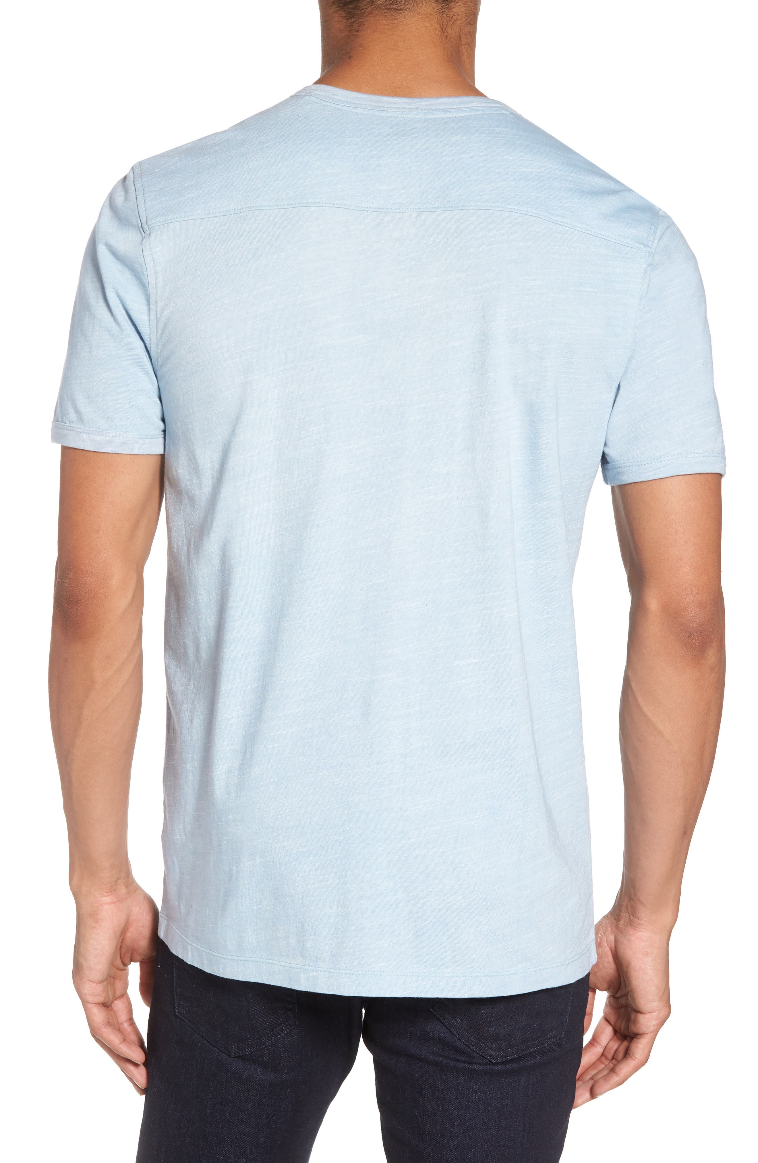 Space Dyed One-Button Henley T-Shirt,                             Alternate thumbnail 8, color,