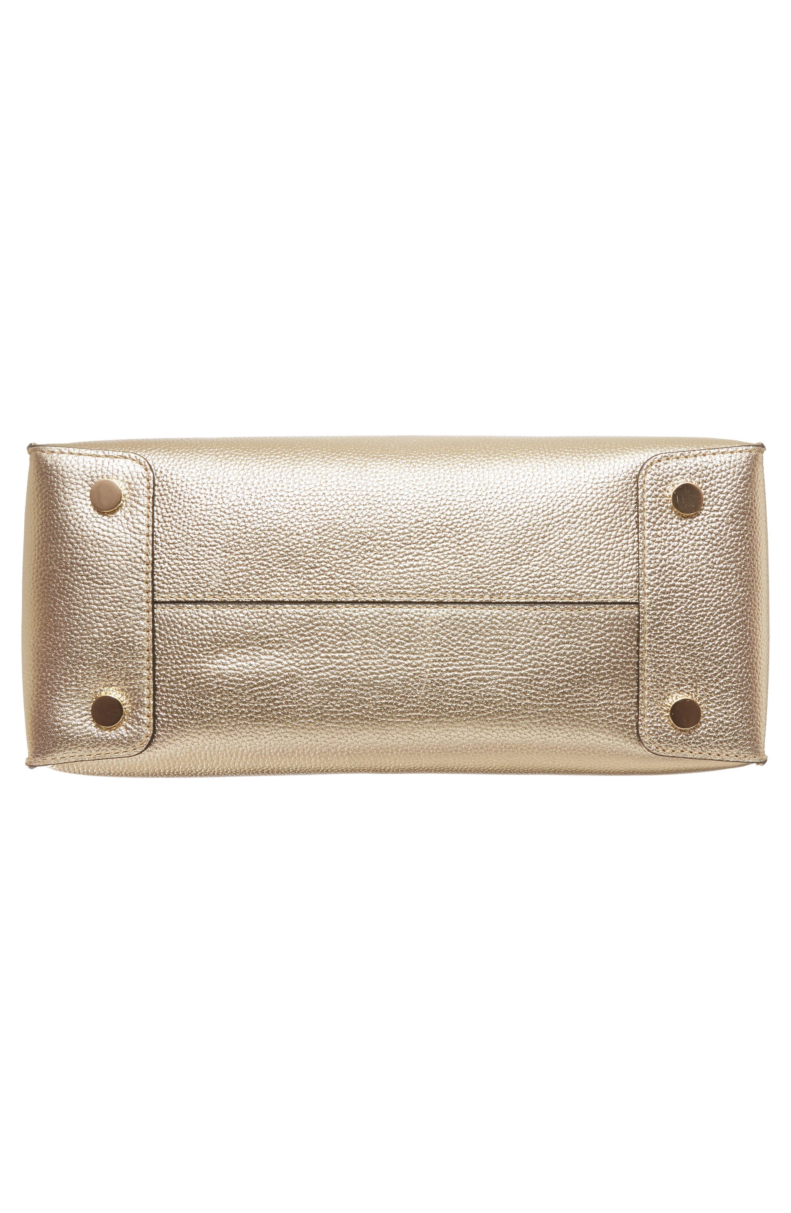 Large Mercer Metallic Leather Tote,                             Alternate thumbnail 4, color,                             740