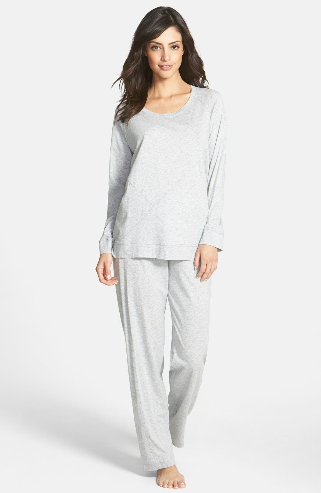 Donna Karan Pima Cotton Pajamas,                             Main thumbnail 1, color,                             031