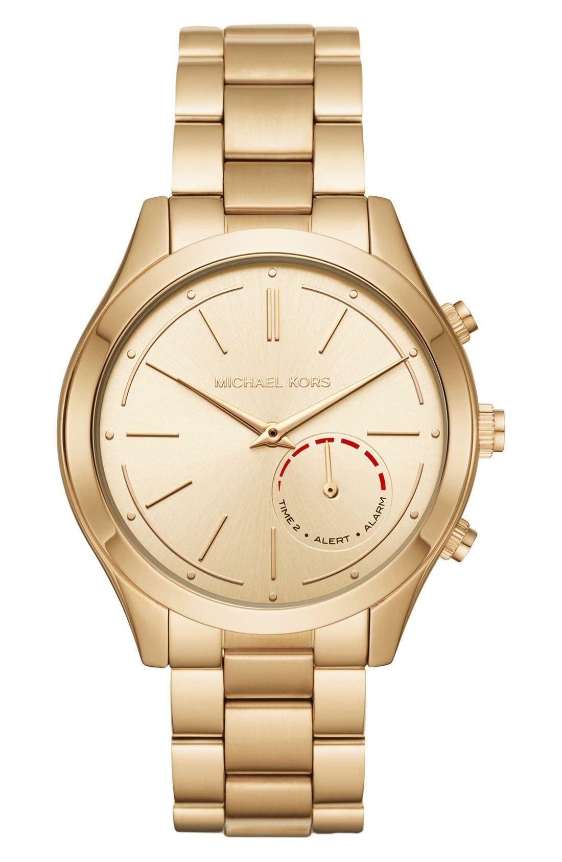 MICHAEL Michael Kors Slim Runway Smart Watch, 42mm,                         Main,                         color, GOLD