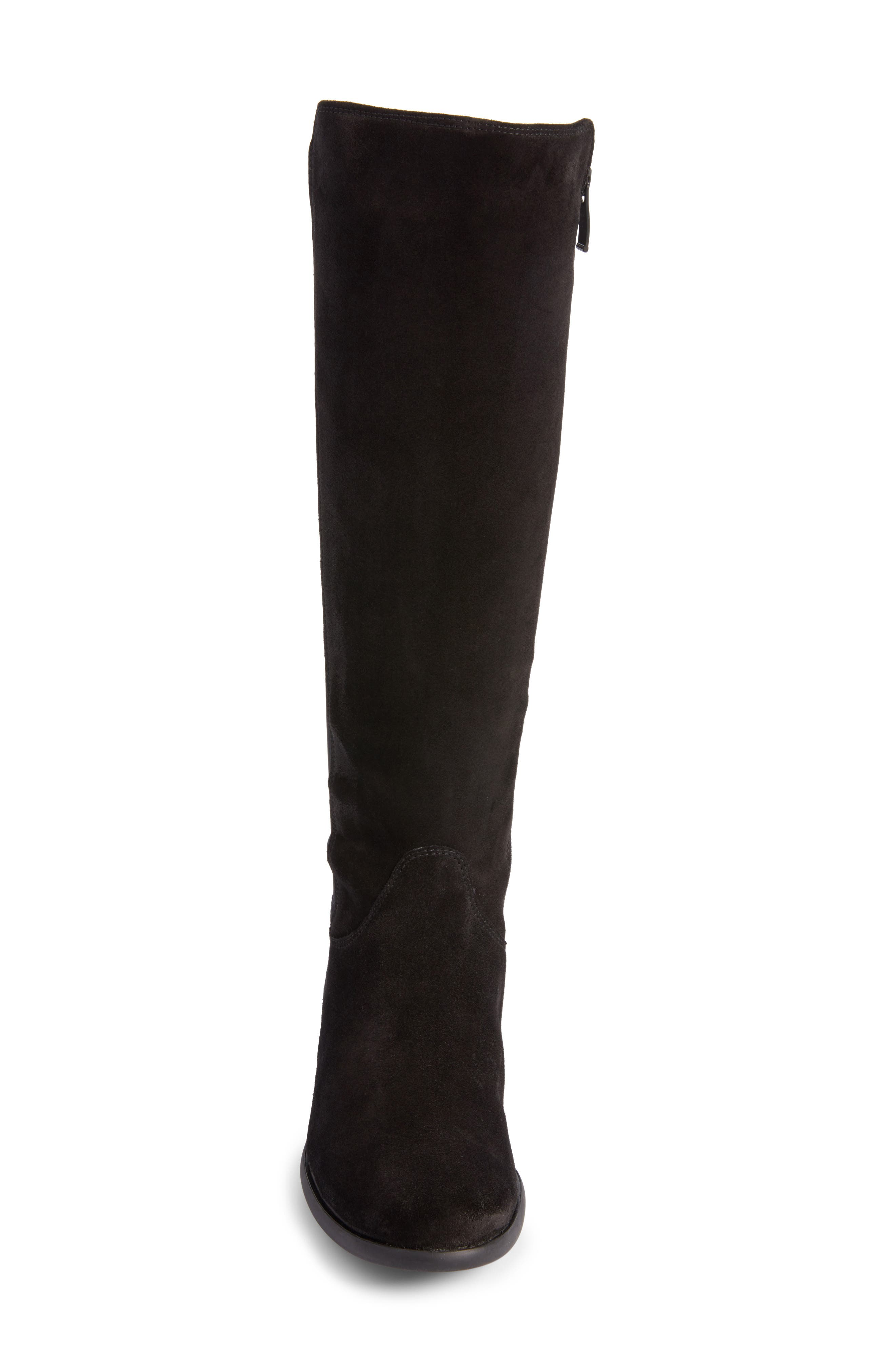 Nola Tall Water Resistant Boot,                             Alternate thumbnail 4, color,                             009
