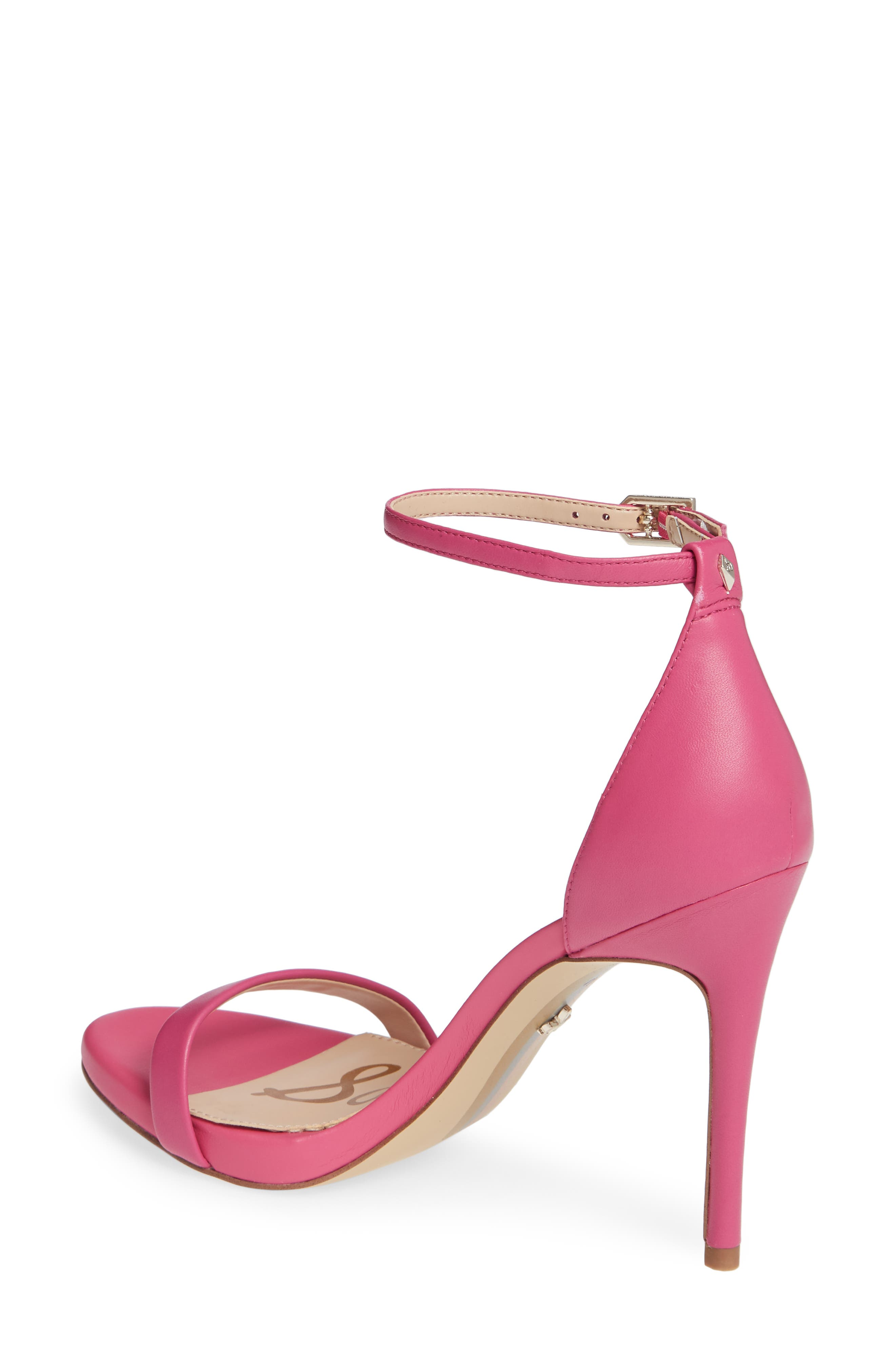 Ariella Ankle Strap Sandal,                             Alternate thumbnail 2, color,                             RETRO PINK LEATHER