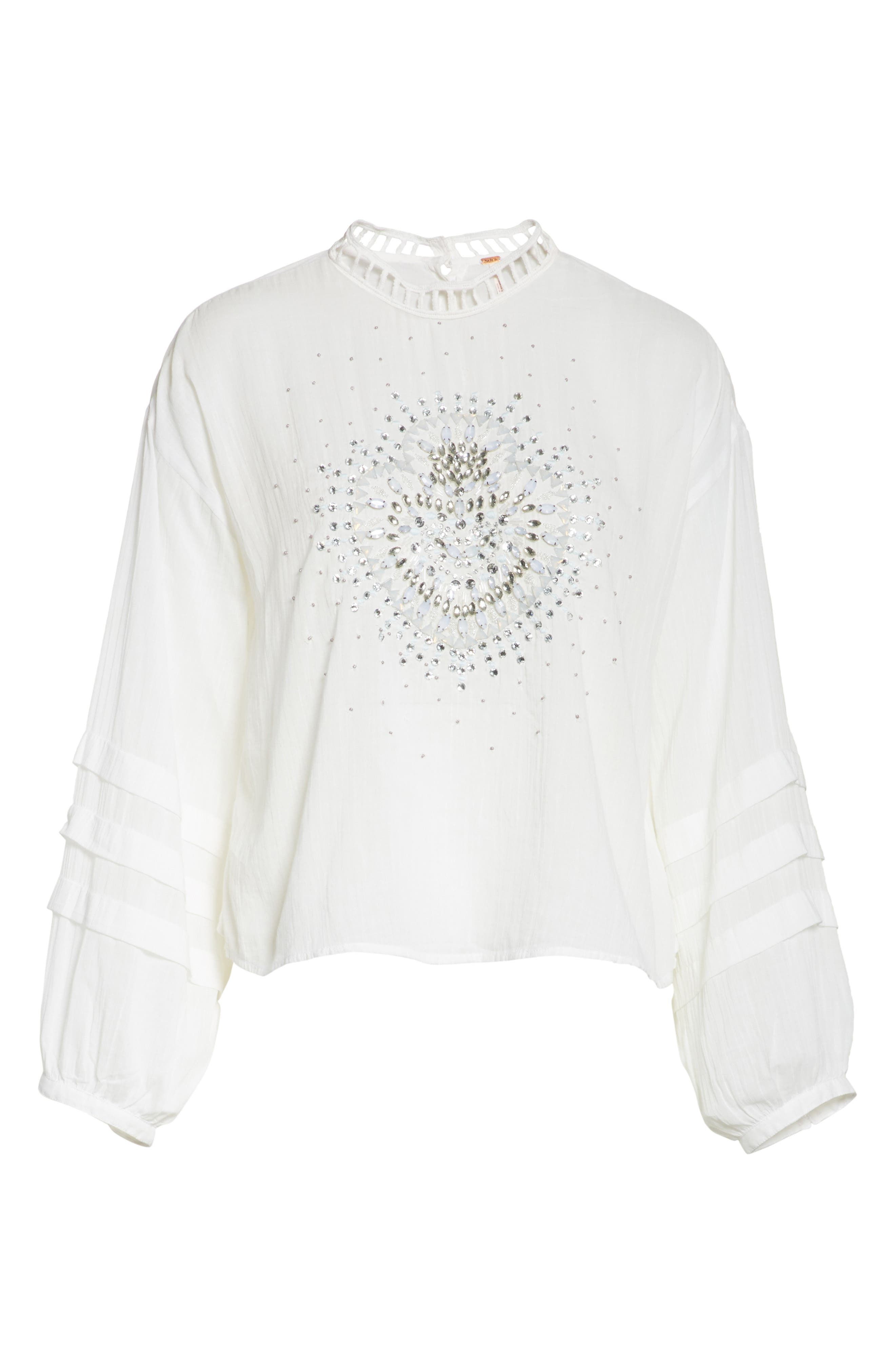 Heart of Gold Embellished Blouse,                             Alternate thumbnail 11, color,