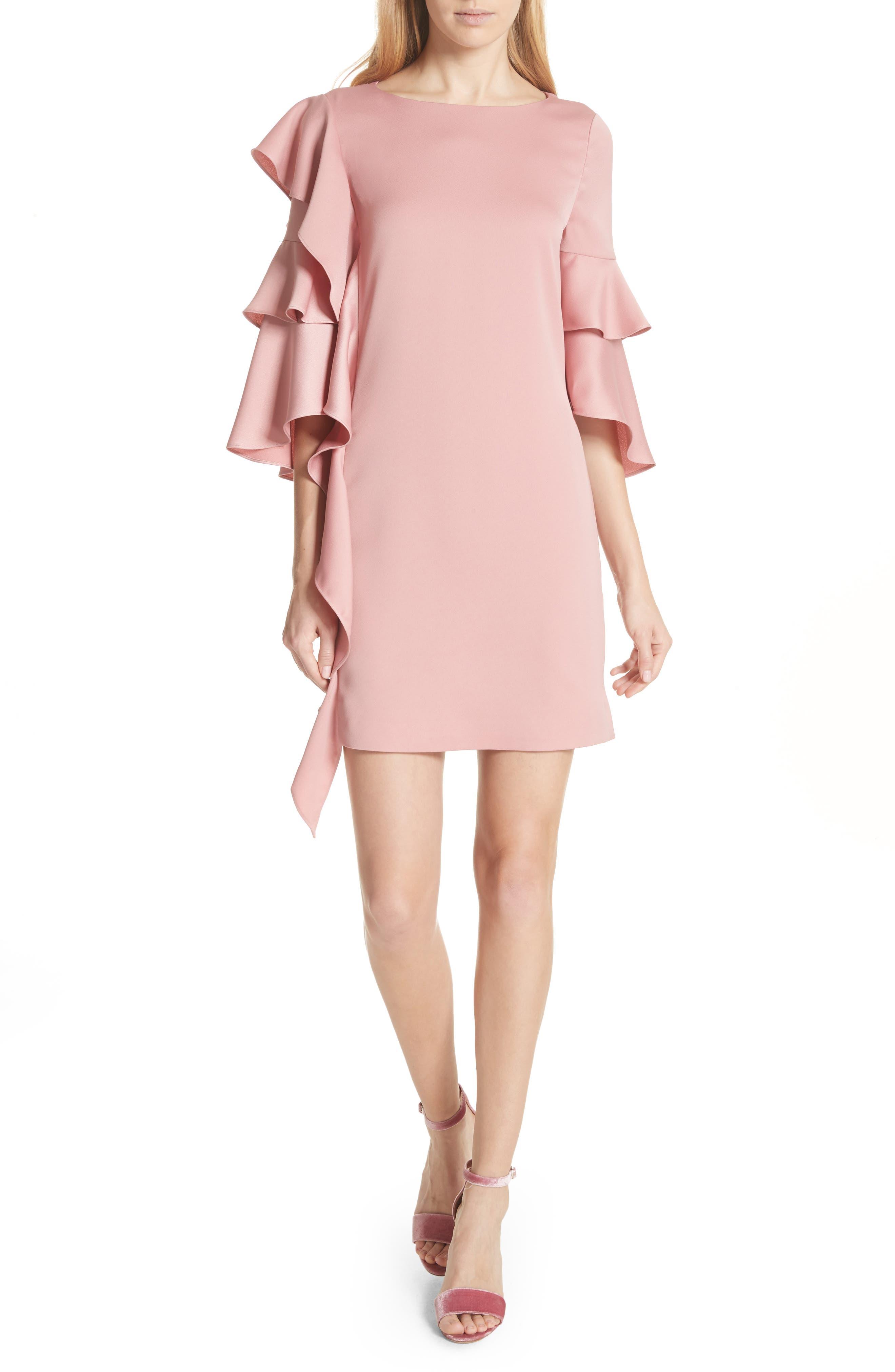 Ruffle Tunic Dress,                             Main thumbnail 1, color,                             660