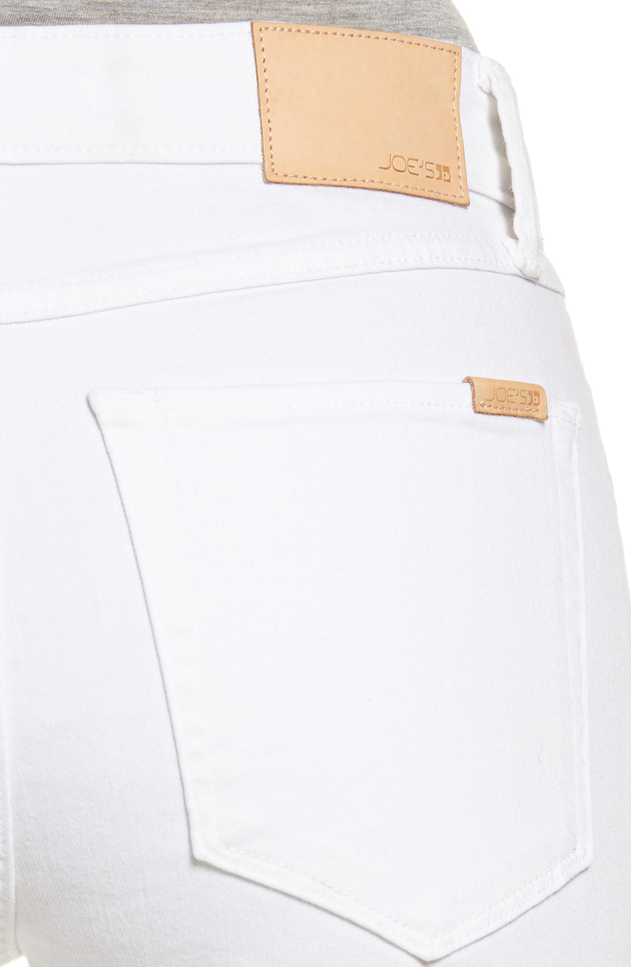 Charlie Raw Hem High Rise Skinny Jeans,                             Alternate thumbnail 4, color,                             120