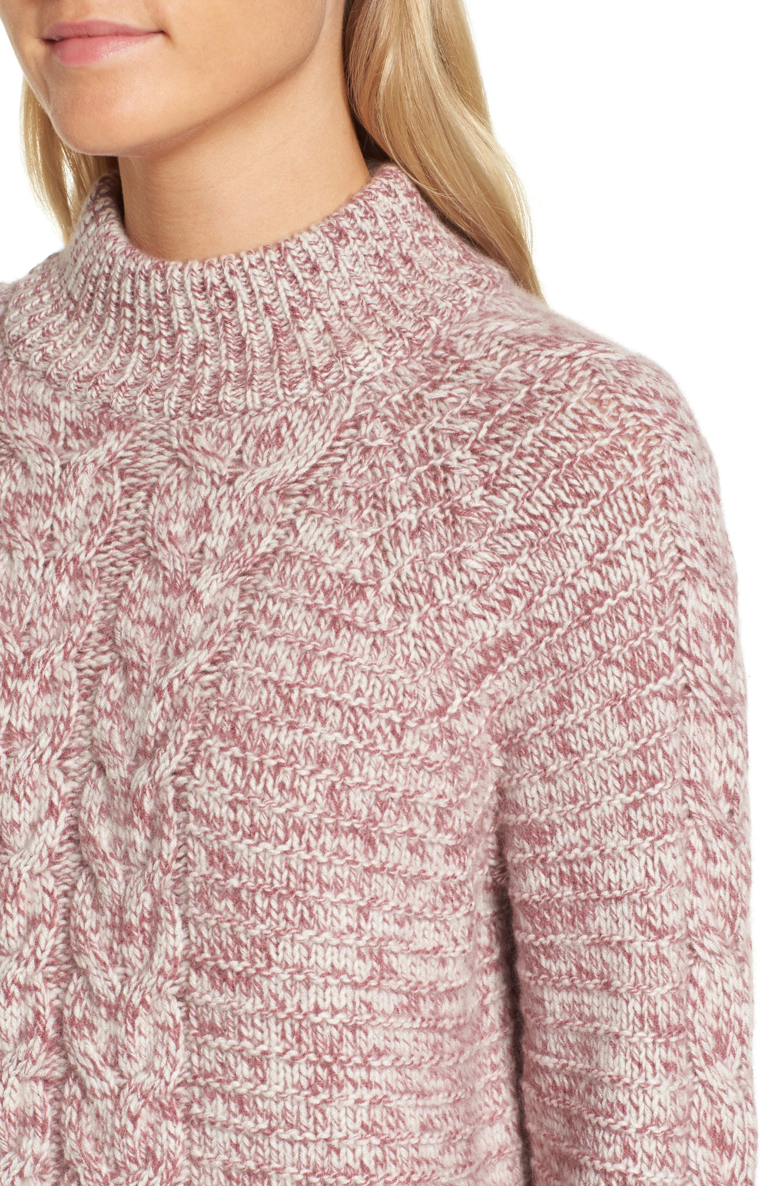 Cashmere Cable Knit Sweater,                             Alternate thumbnail 4, color,                             938
