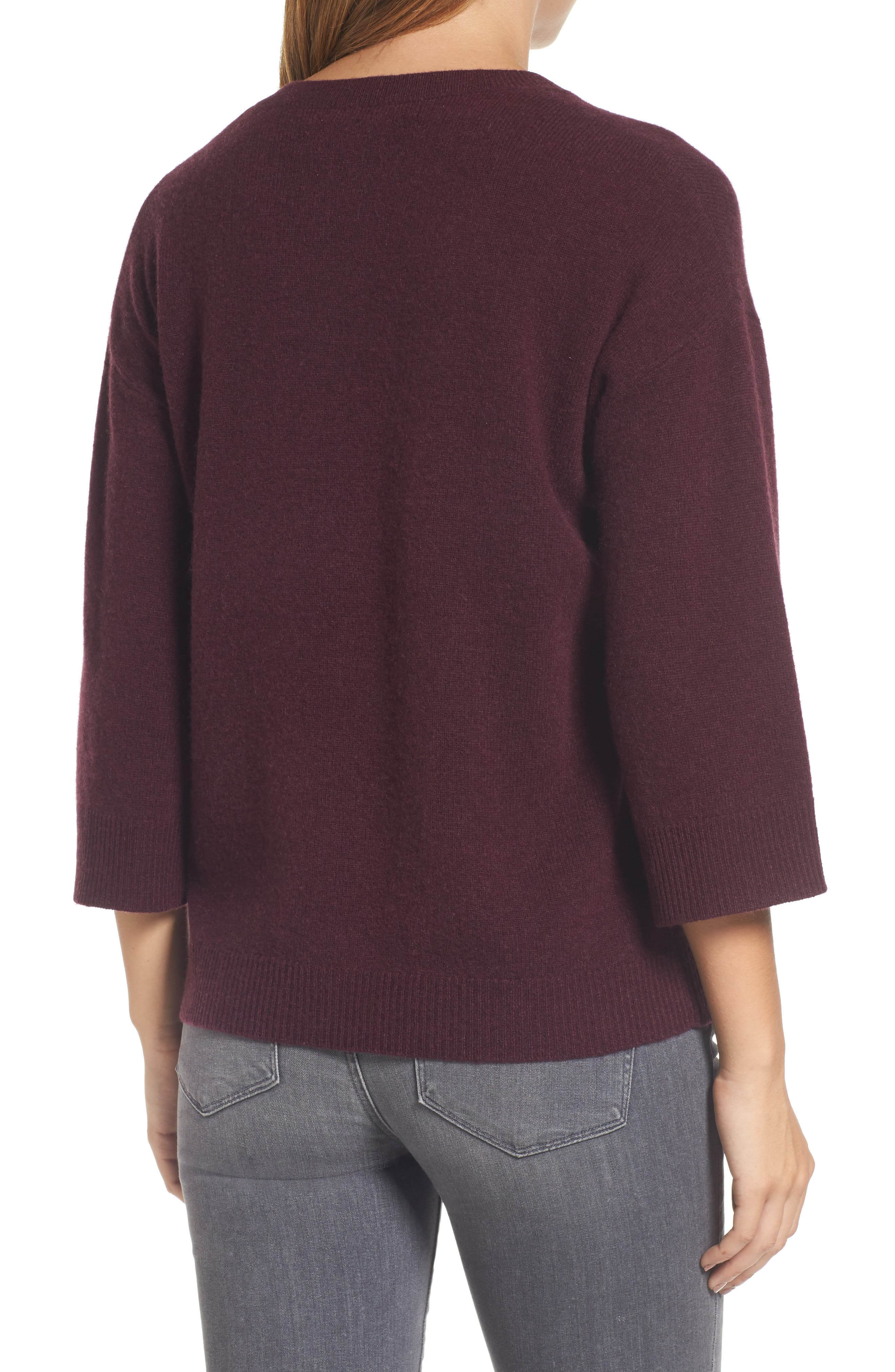 Side Tie Wool and Cashmere Sweater,                             Alternate thumbnail 12, color,