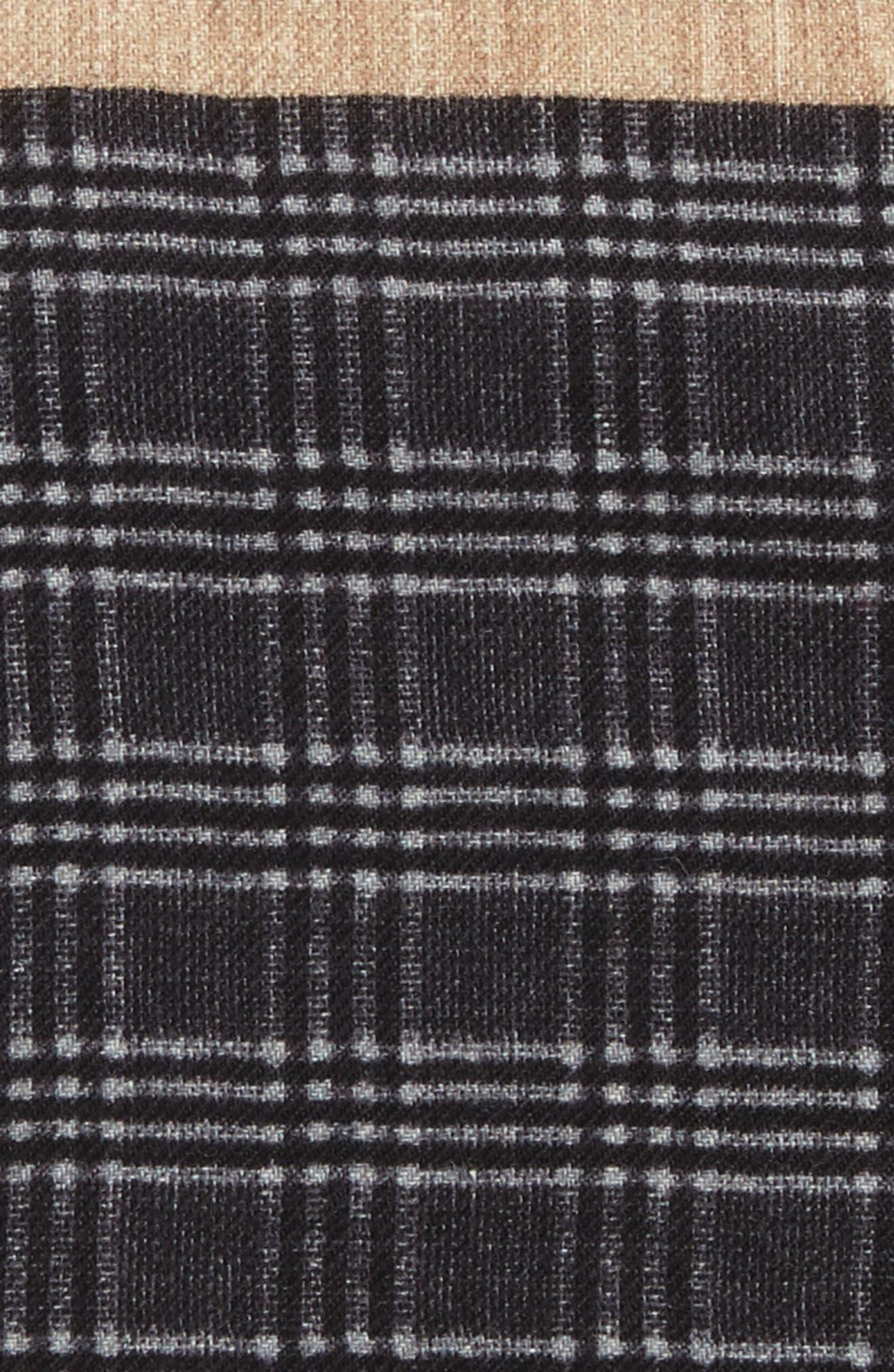 Plaid Wool Pocket Square,                             Alternate thumbnail 3, color,                             030