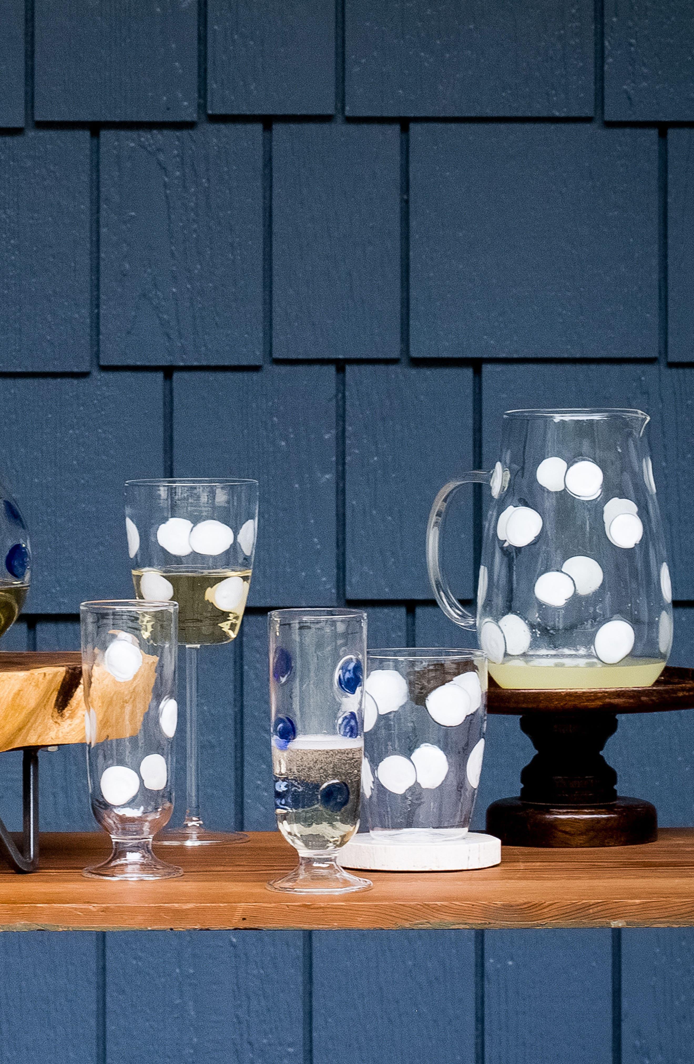 Drop Wine Glass,                             Alternate thumbnail 3, color,                             WHITE