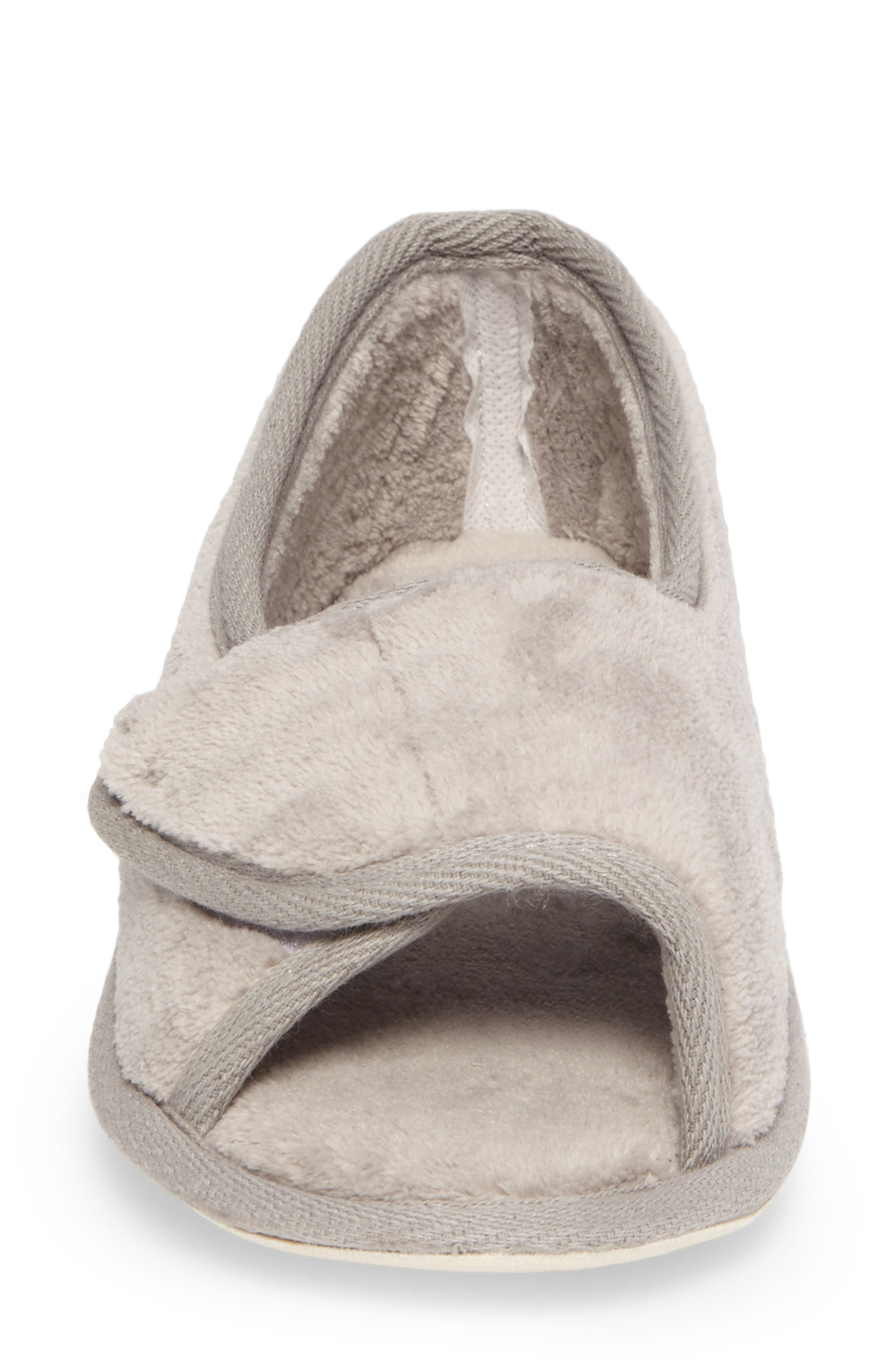 Tara II Slipper,                             Alternate thumbnail 4, color,                             GRAY FABRIC