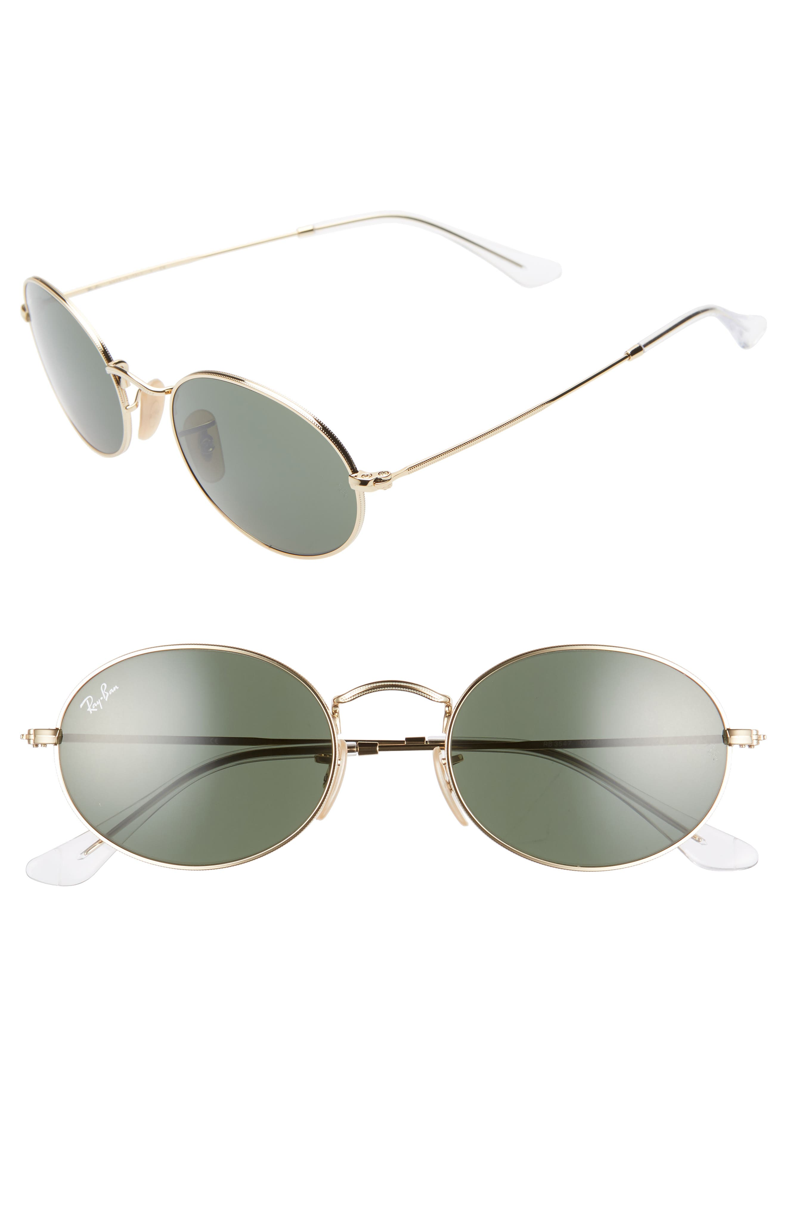 Ray-Ban 5m Round Sunglasses - Gold/ Black Solid