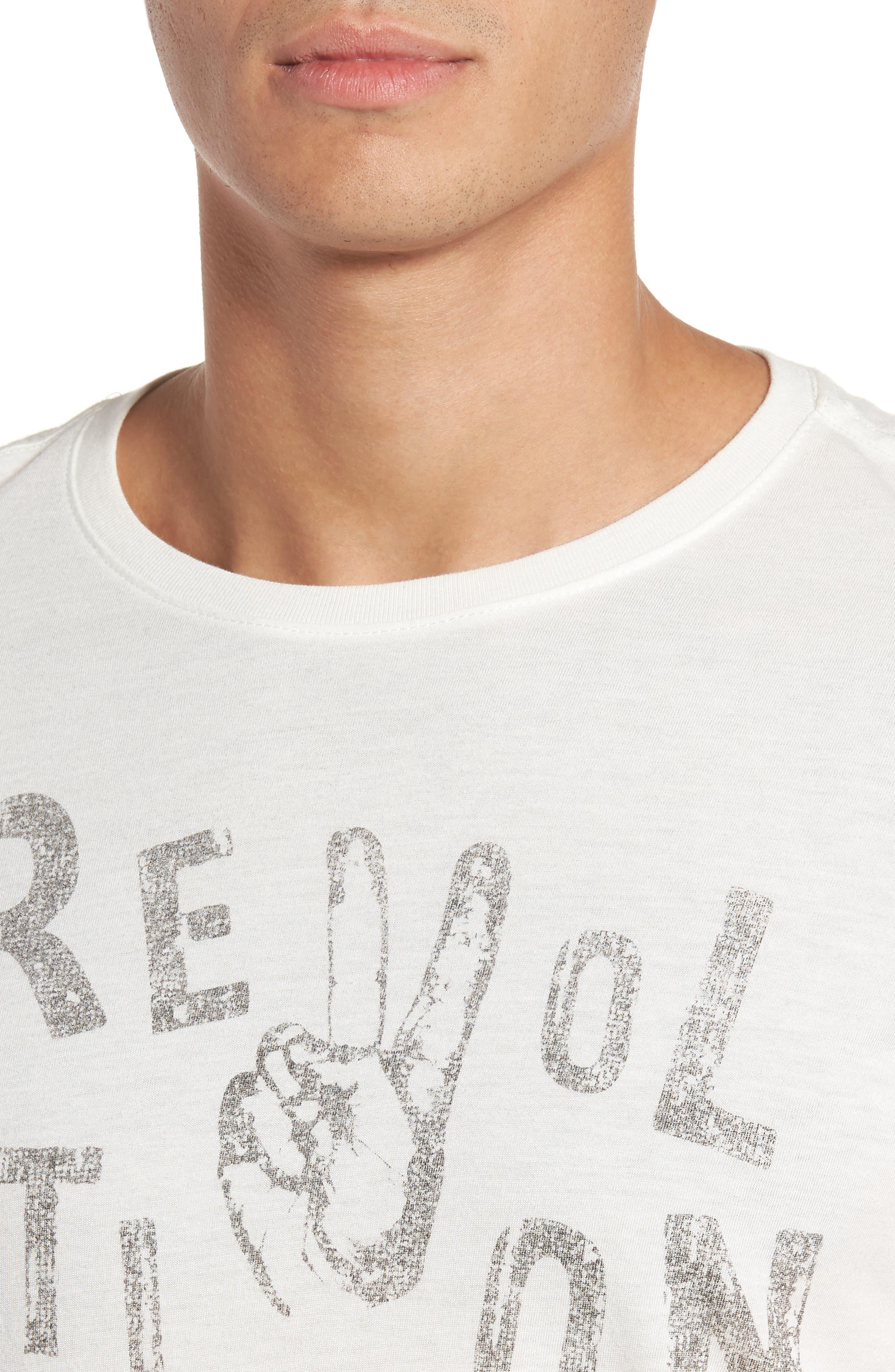 Revolution Graphic T-Shirt,                             Alternate thumbnail 4, color,                             103