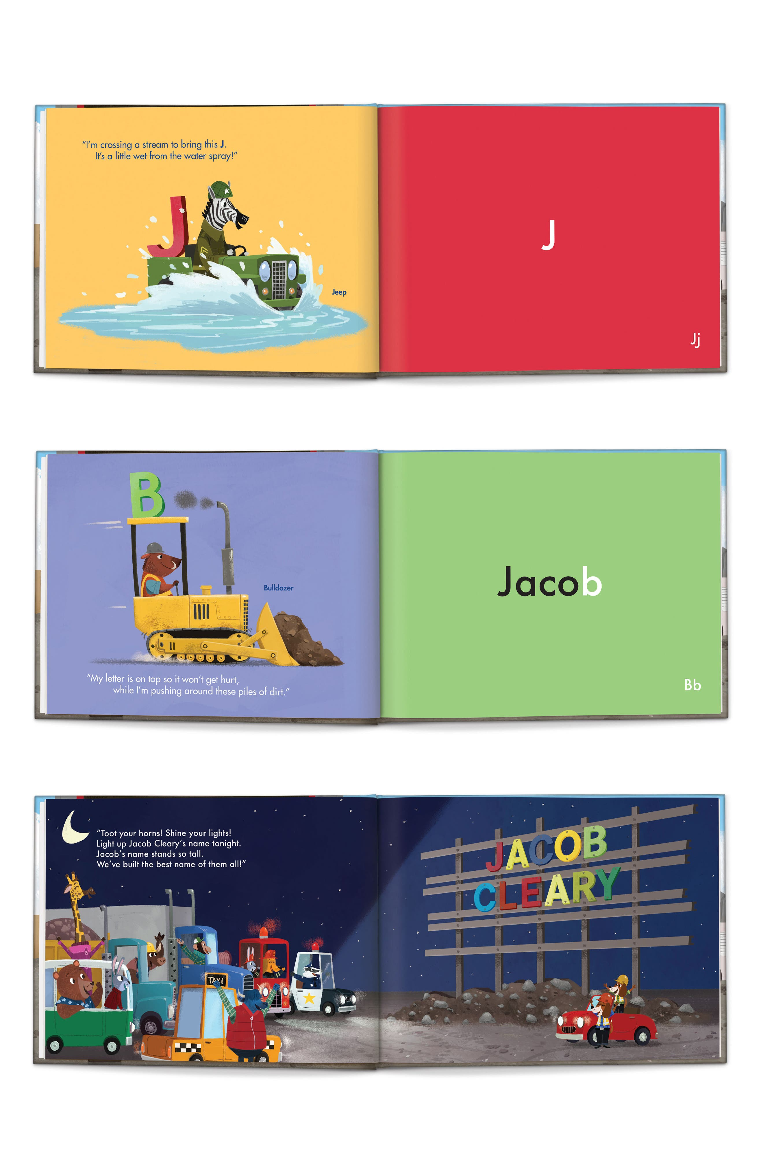 'My Very Own Trucks' Personalized Storybook,                             Alternate thumbnail 2, color,                             RED