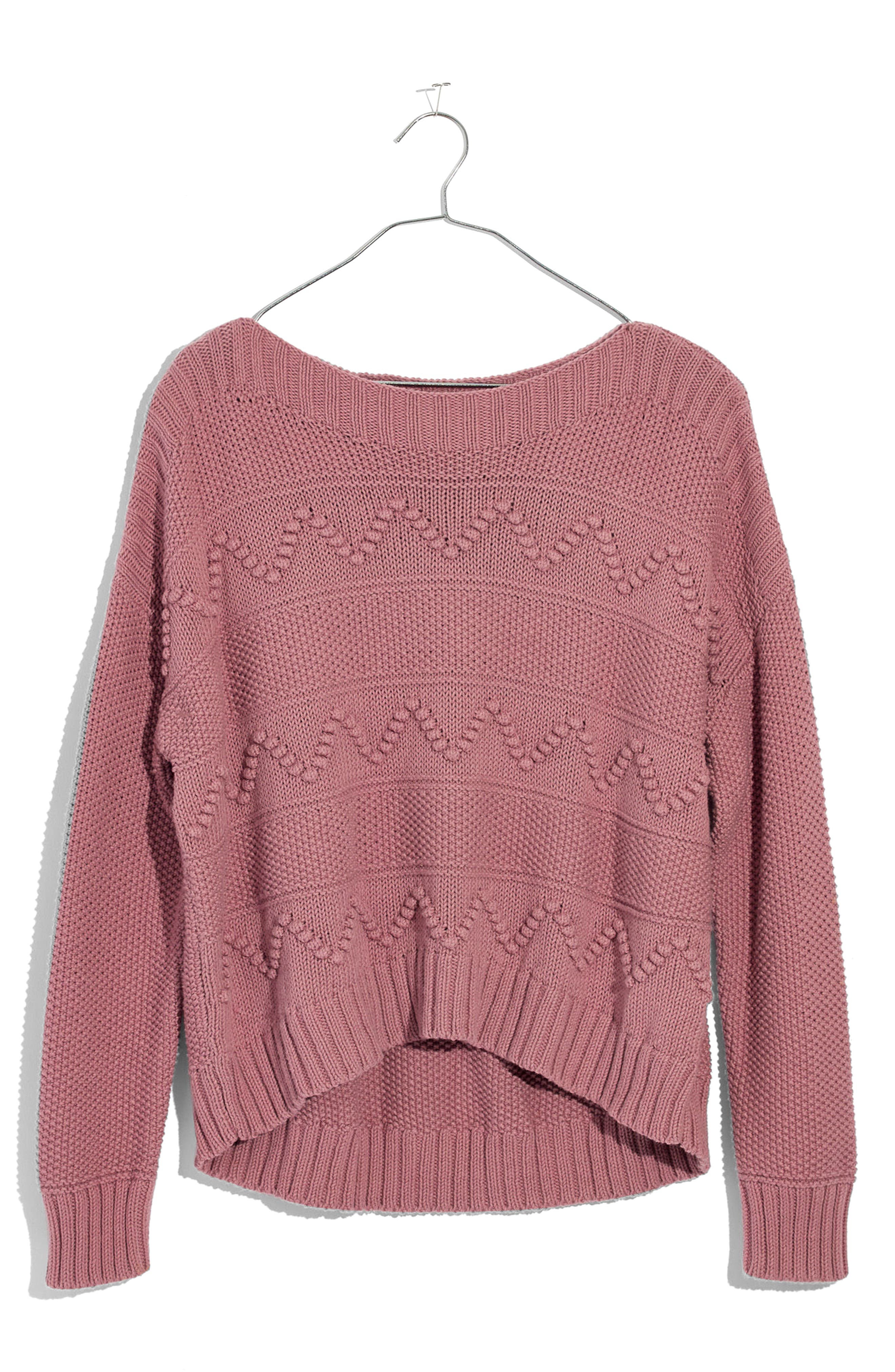 Zigzag Stitch Pullover Sweater,                             Alternate thumbnail 4, color,                             650
