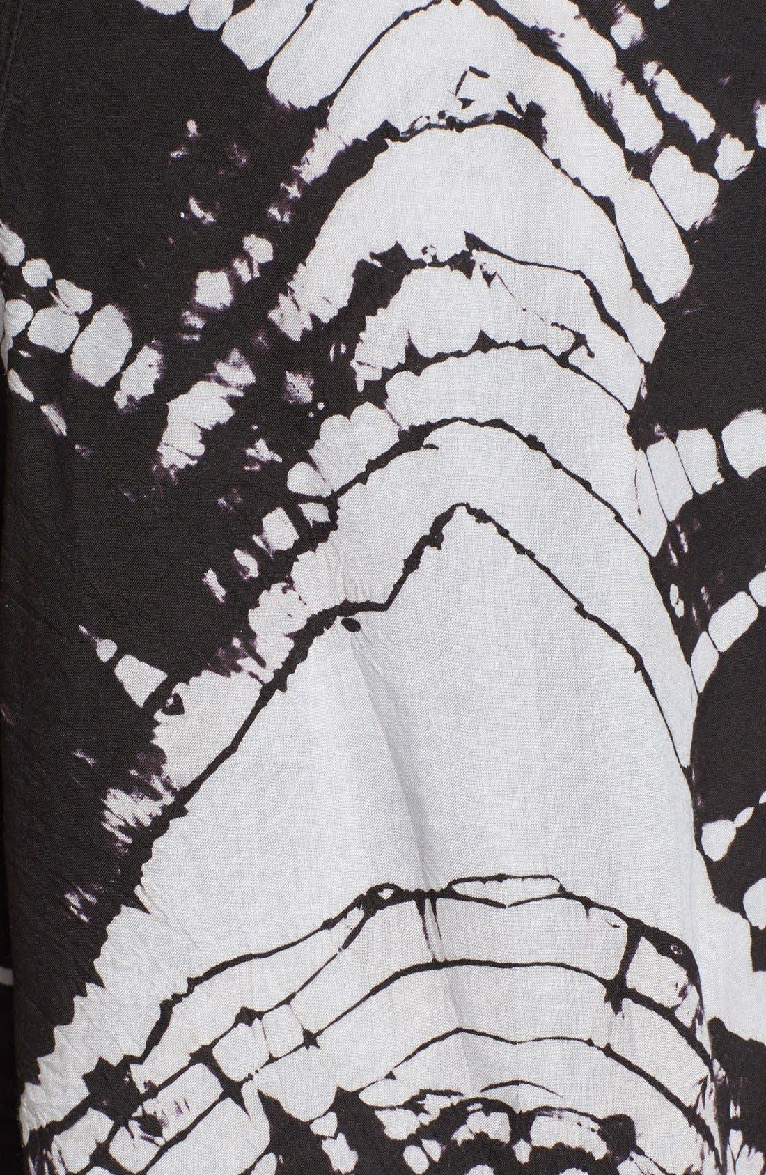 'Sk8r Girl' Print Skater Skirt,                             Alternate thumbnail 3, color,                             001