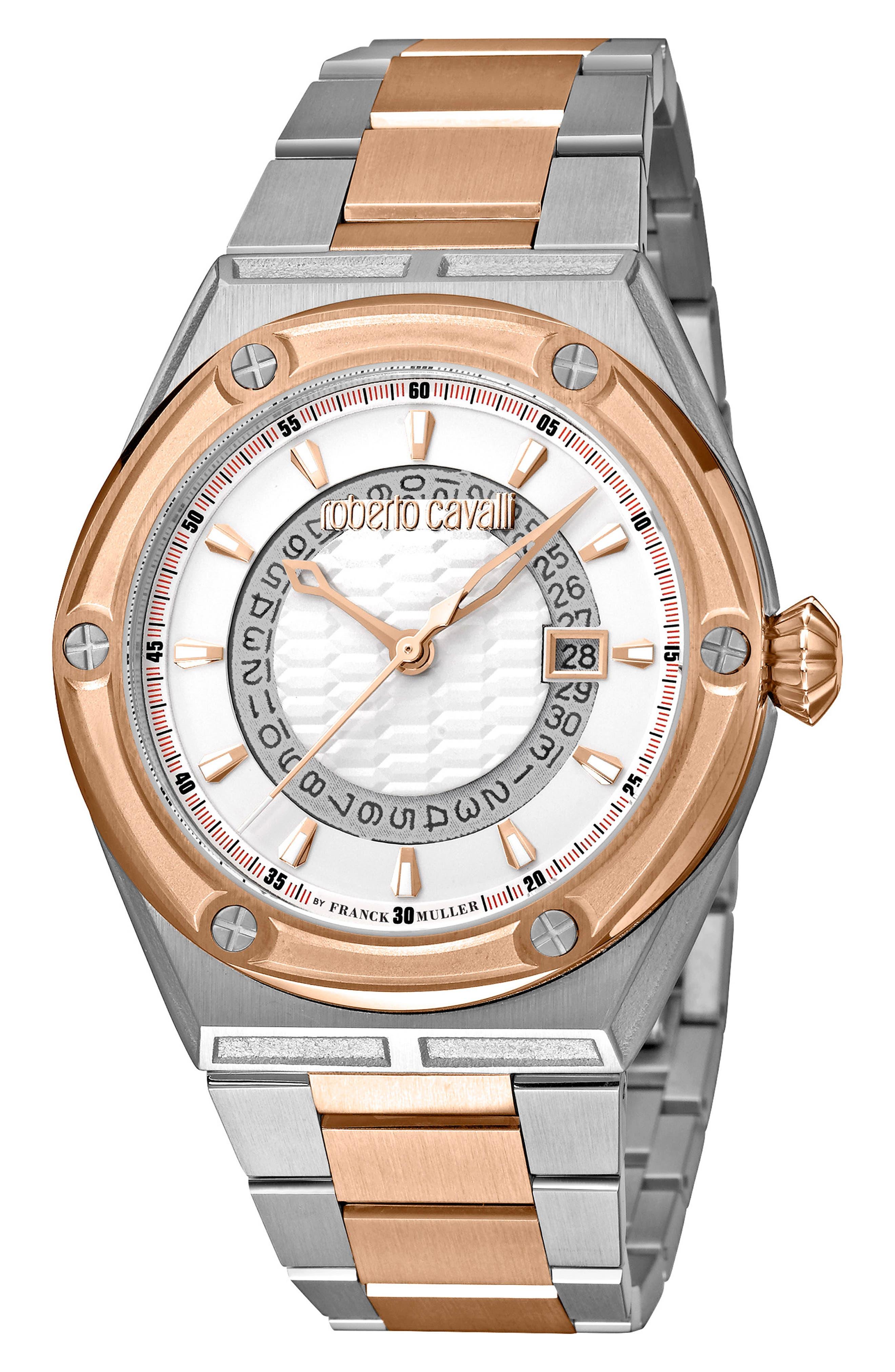 ROBERTO CAVALLI BY FRANCK MULLER Scala Bracelet Watch, 45Mm in Gold