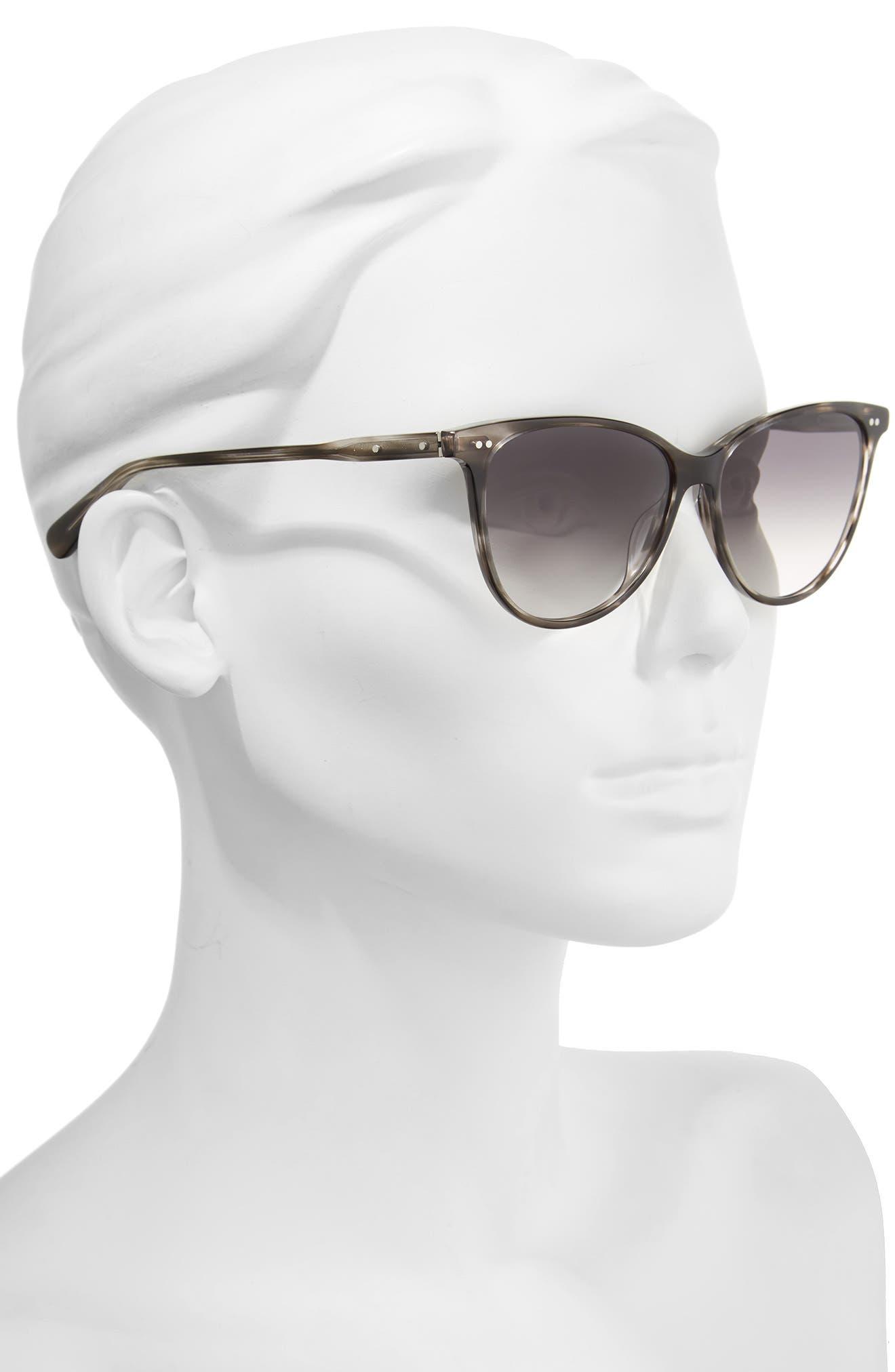 The Patton 55mm Gradient Cat Eye Sunglasses,                             Alternate thumbnail 2, color,                             020