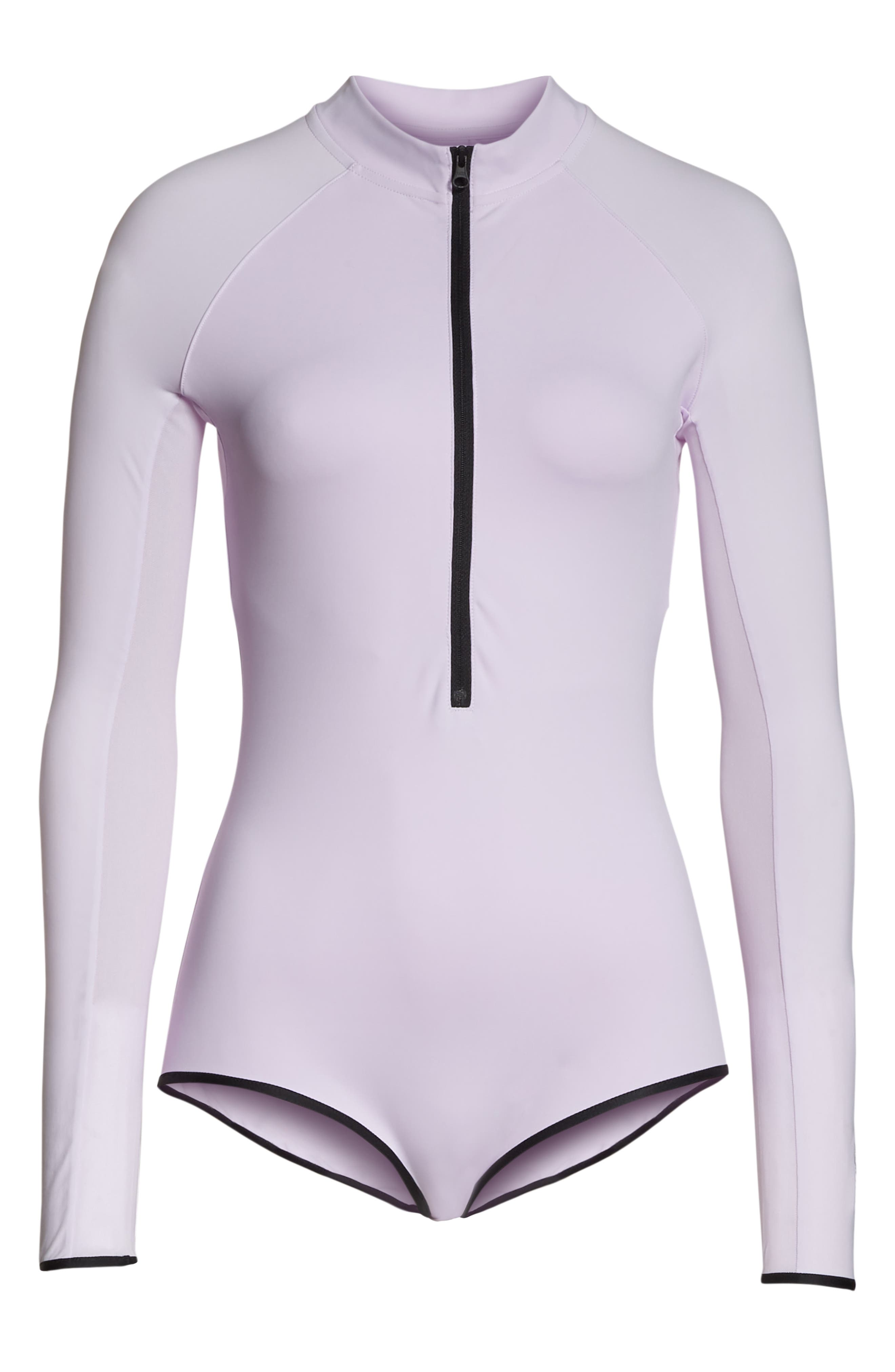 NRG Women's Dri-FIT Long Sleeve Bodysuit,                             Alternate thumbnail 7, color,                             BARELY GRAPE/ BARELY GRAPE