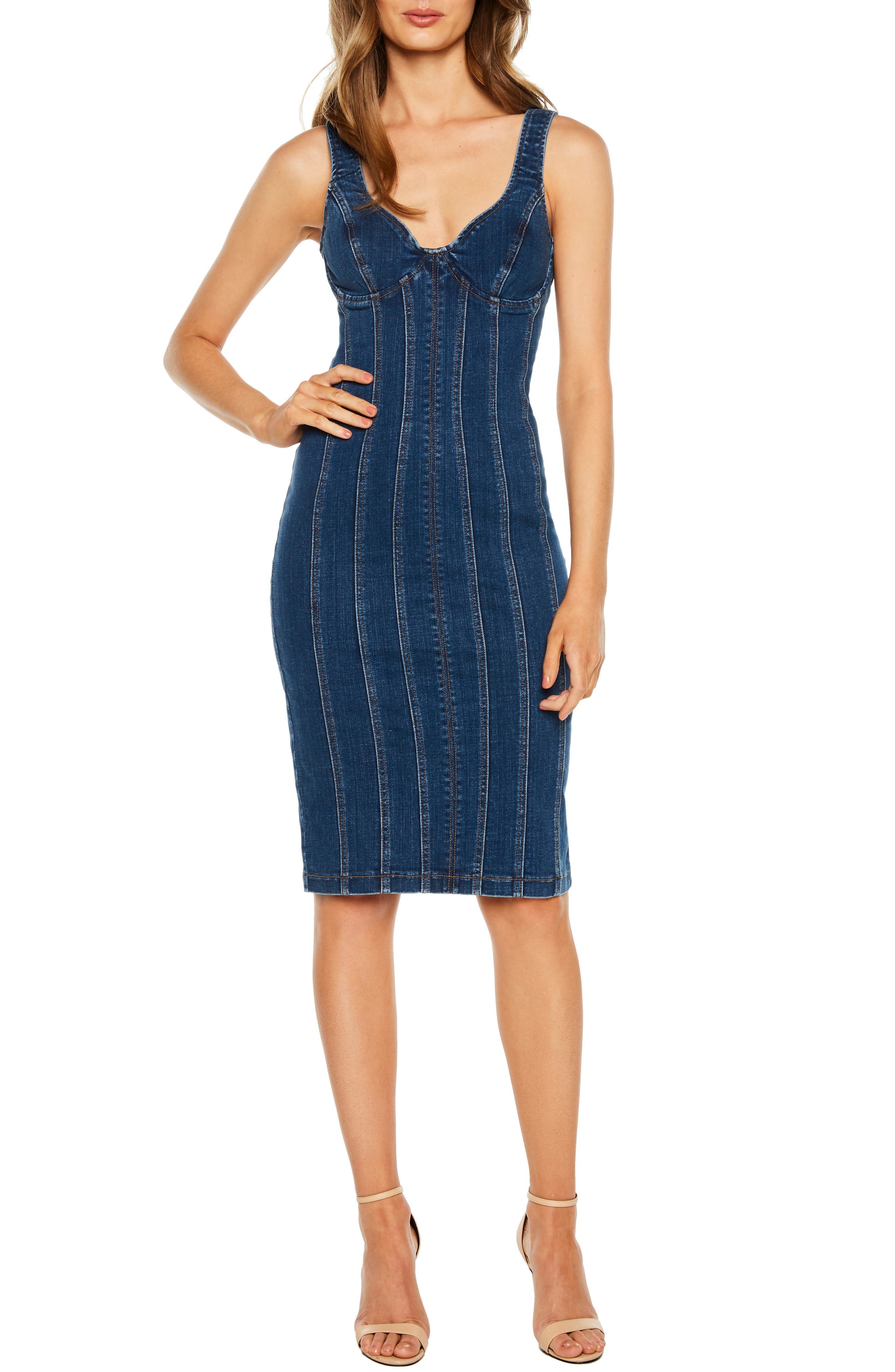Bardot Miami Denim Dress