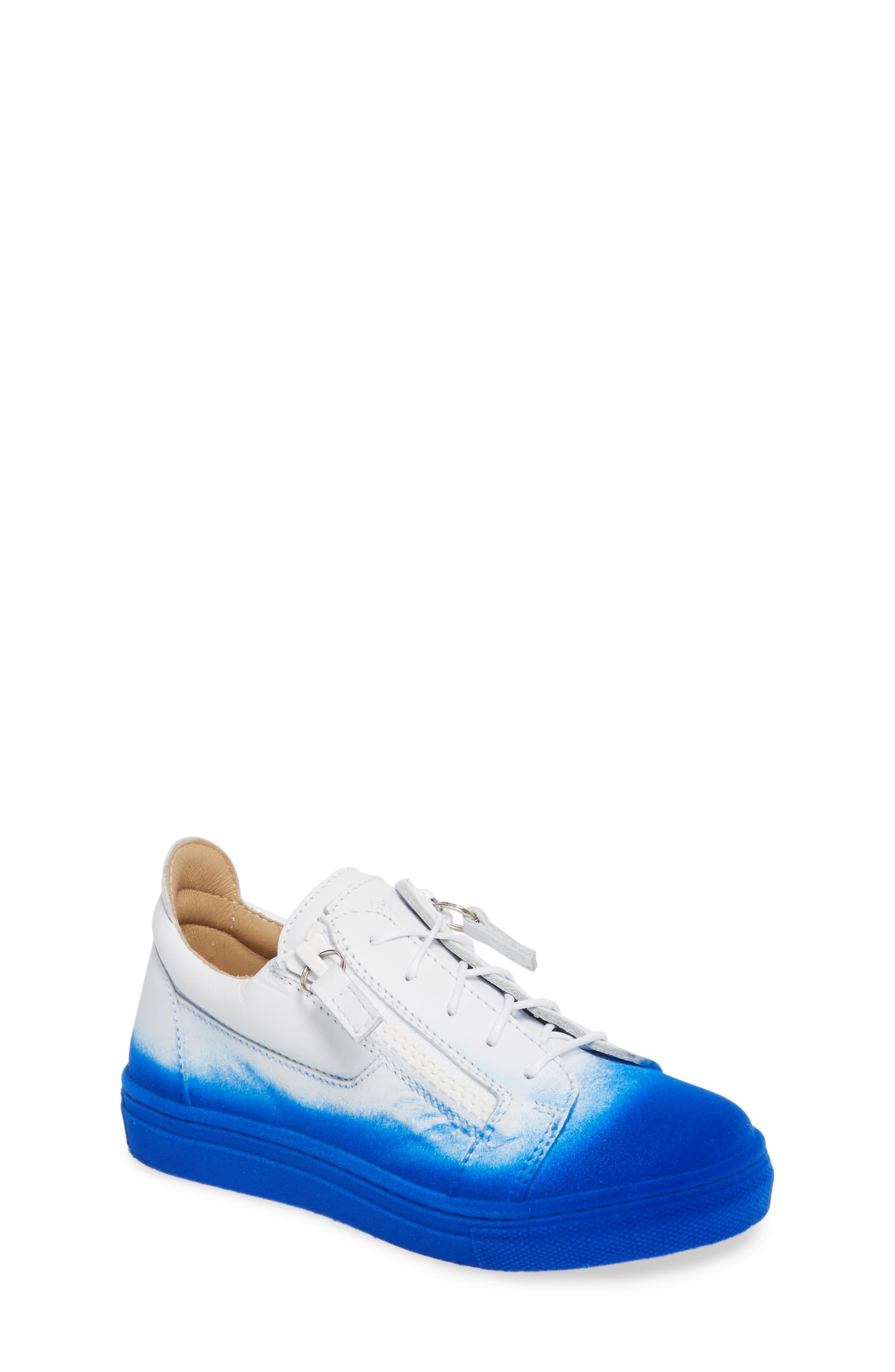 Smuggy Ombré Flocked Sneaker,                             Main thumbnail 1, color,                             BLUE/ WHITE