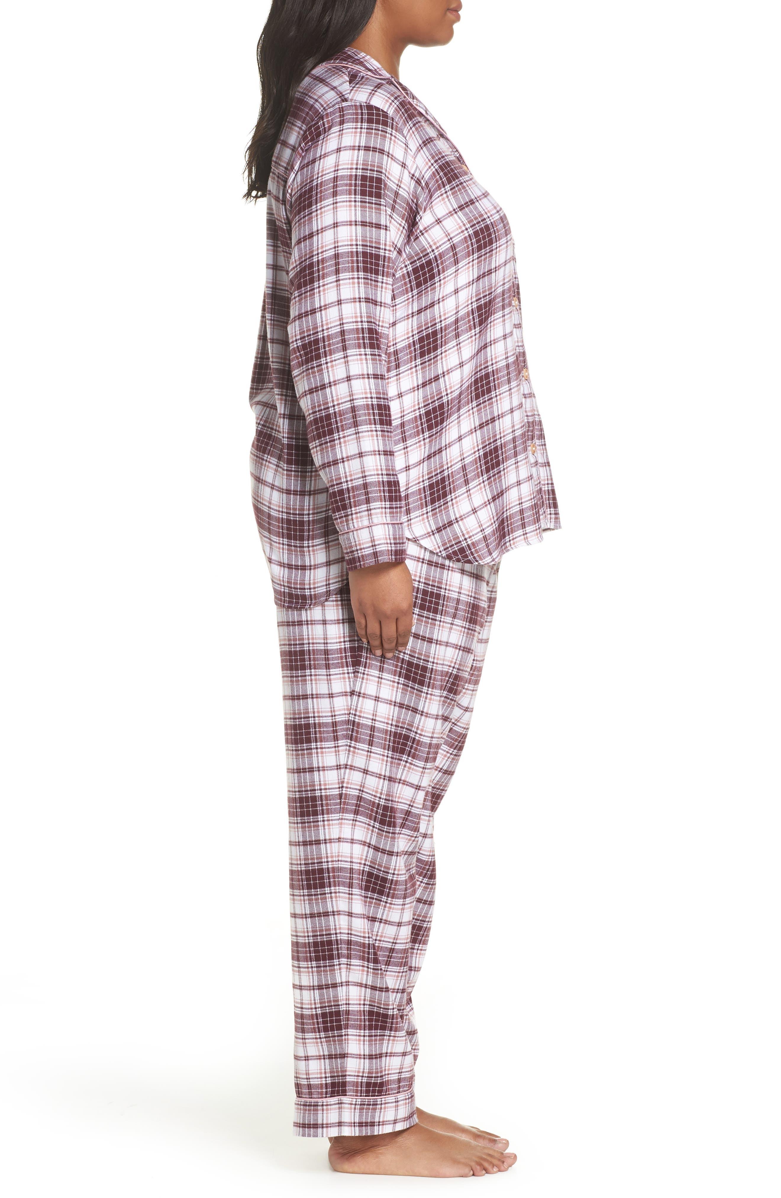 Raven Plaid Pajamas,                             Alternate thumbnail 3, color,                             PORT PLAID