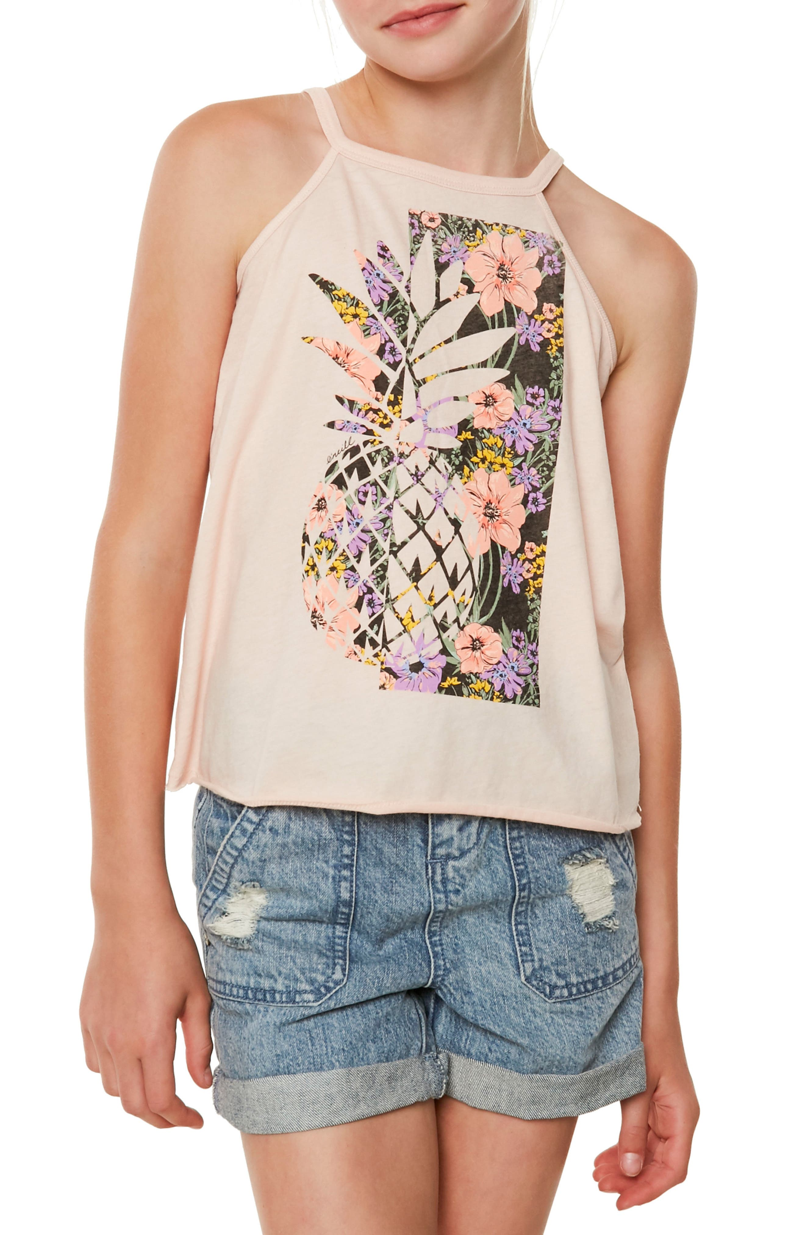 Pineapple Slice Graphic Tee,                             Main thumbnail 1, color,