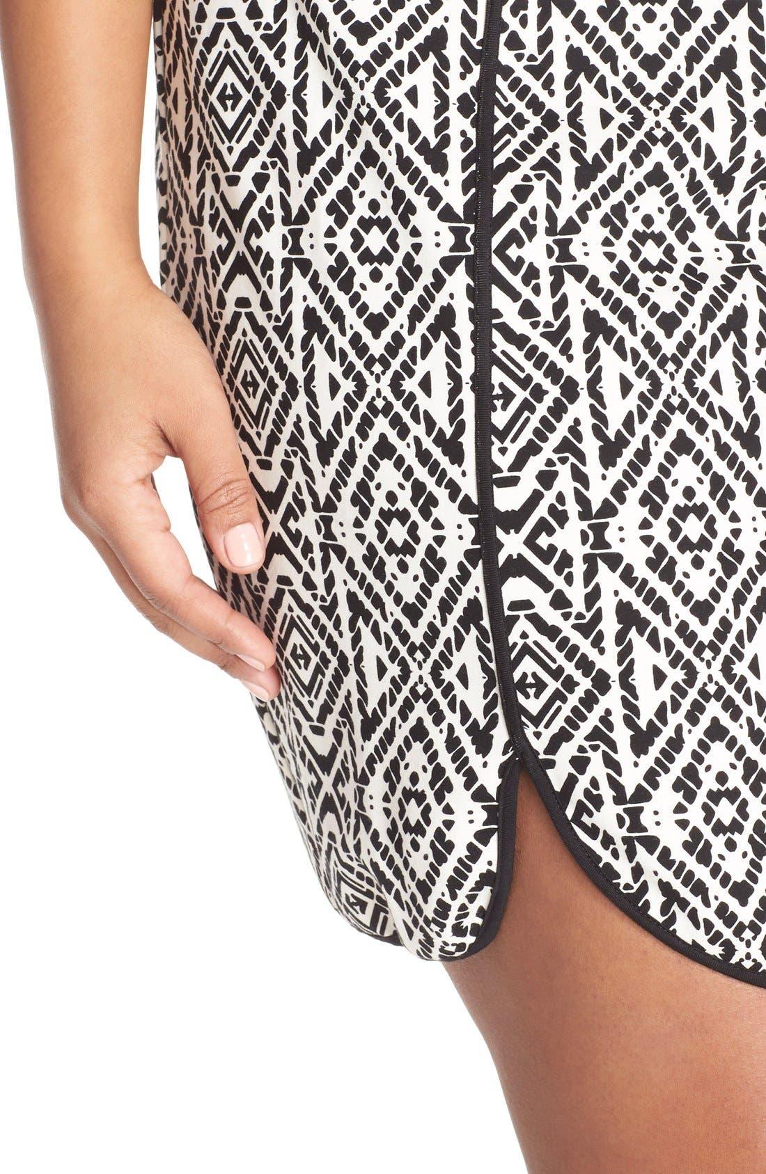 'Joslyn' Sleeveless Seam Detail Ponte Sheath Dress,                             Alternate thumbnail 5, color,                             007