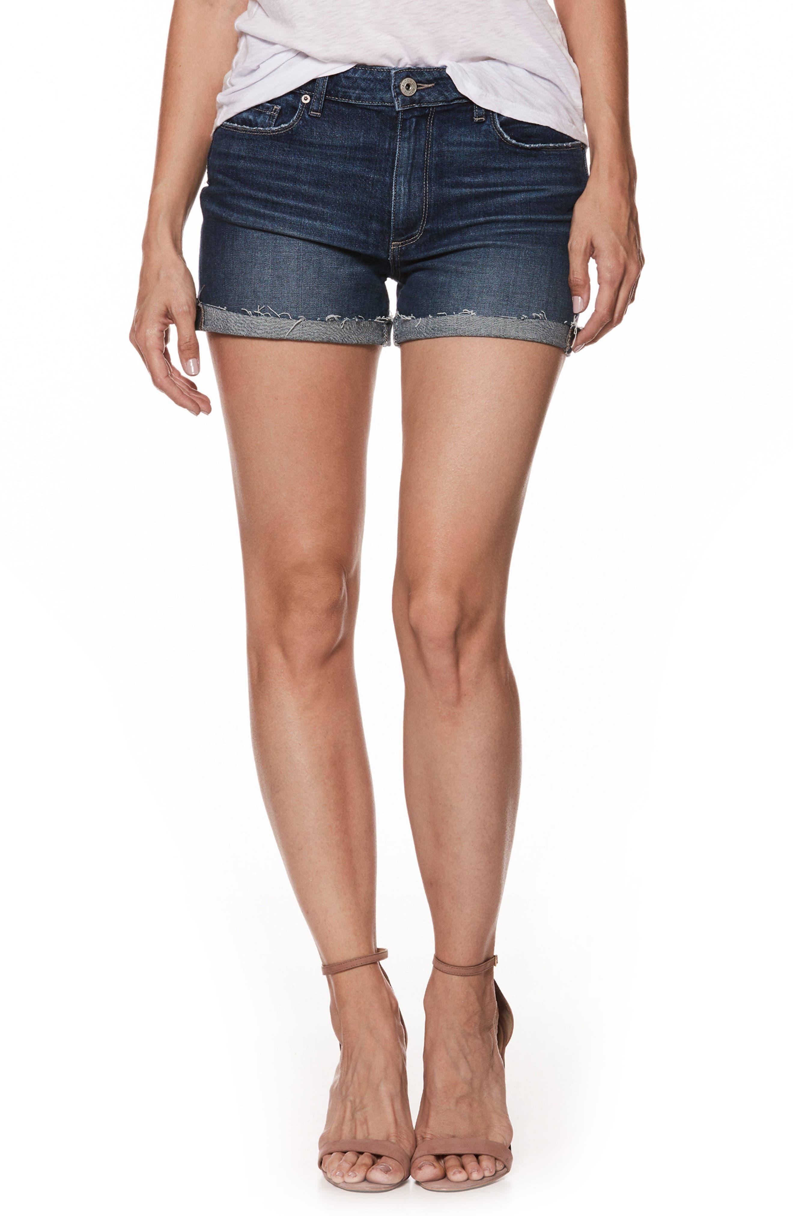 Jimmy Jimmy Raw Cuff Denim Shorts,                         Main,                         color, KYLEN