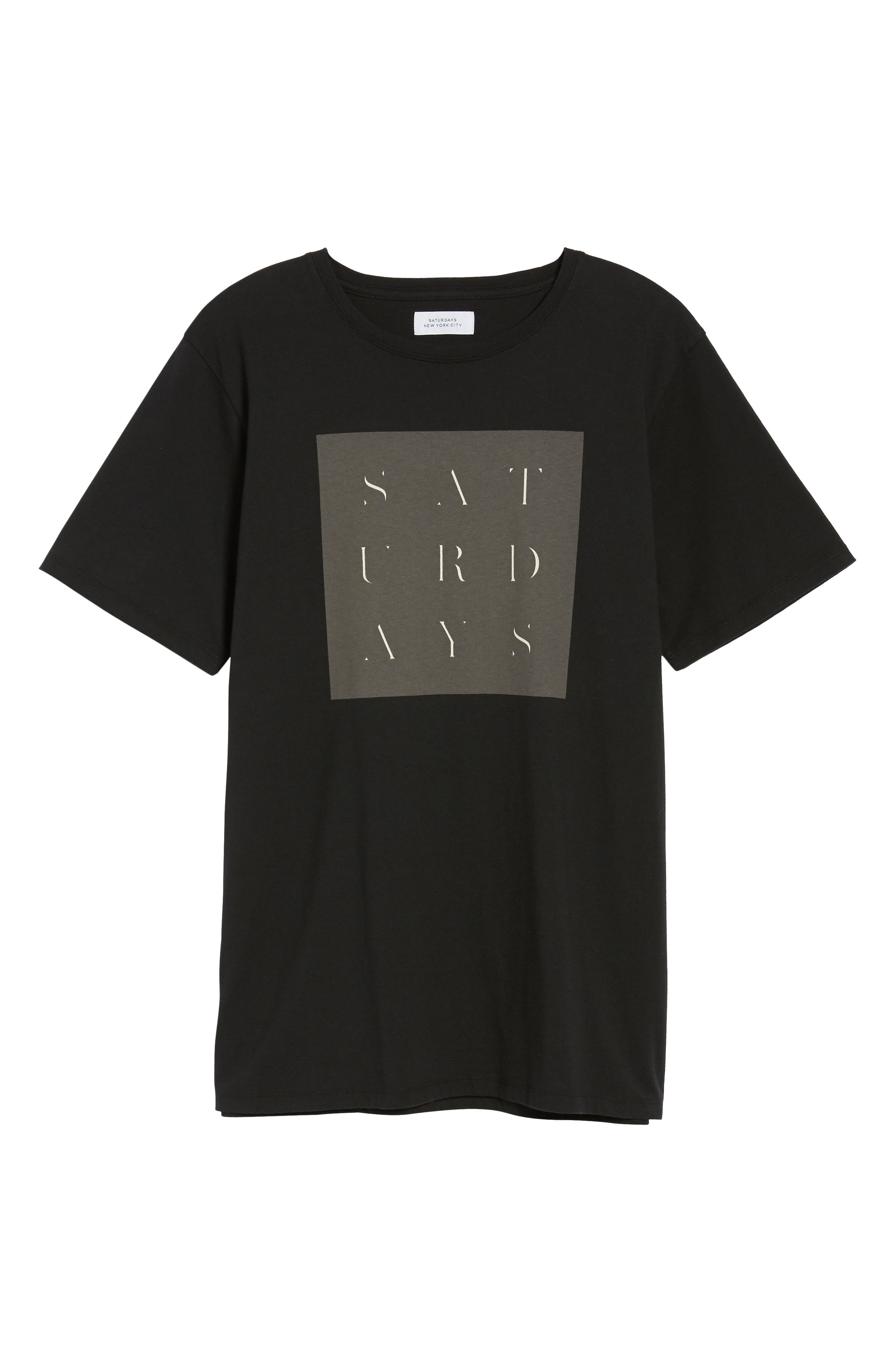 Stencil Grid T-Shirt,                             Alternate thumbnail 6, color,                             001