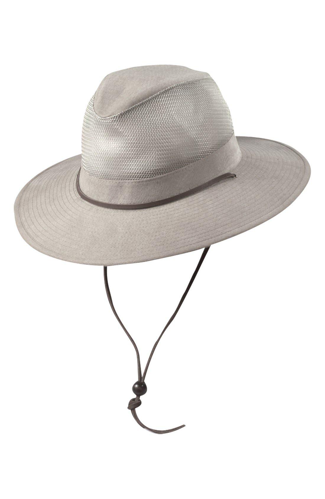 Brushed Twill Safari Hat,                             Main thumbnail 1, color,                             KHAKI