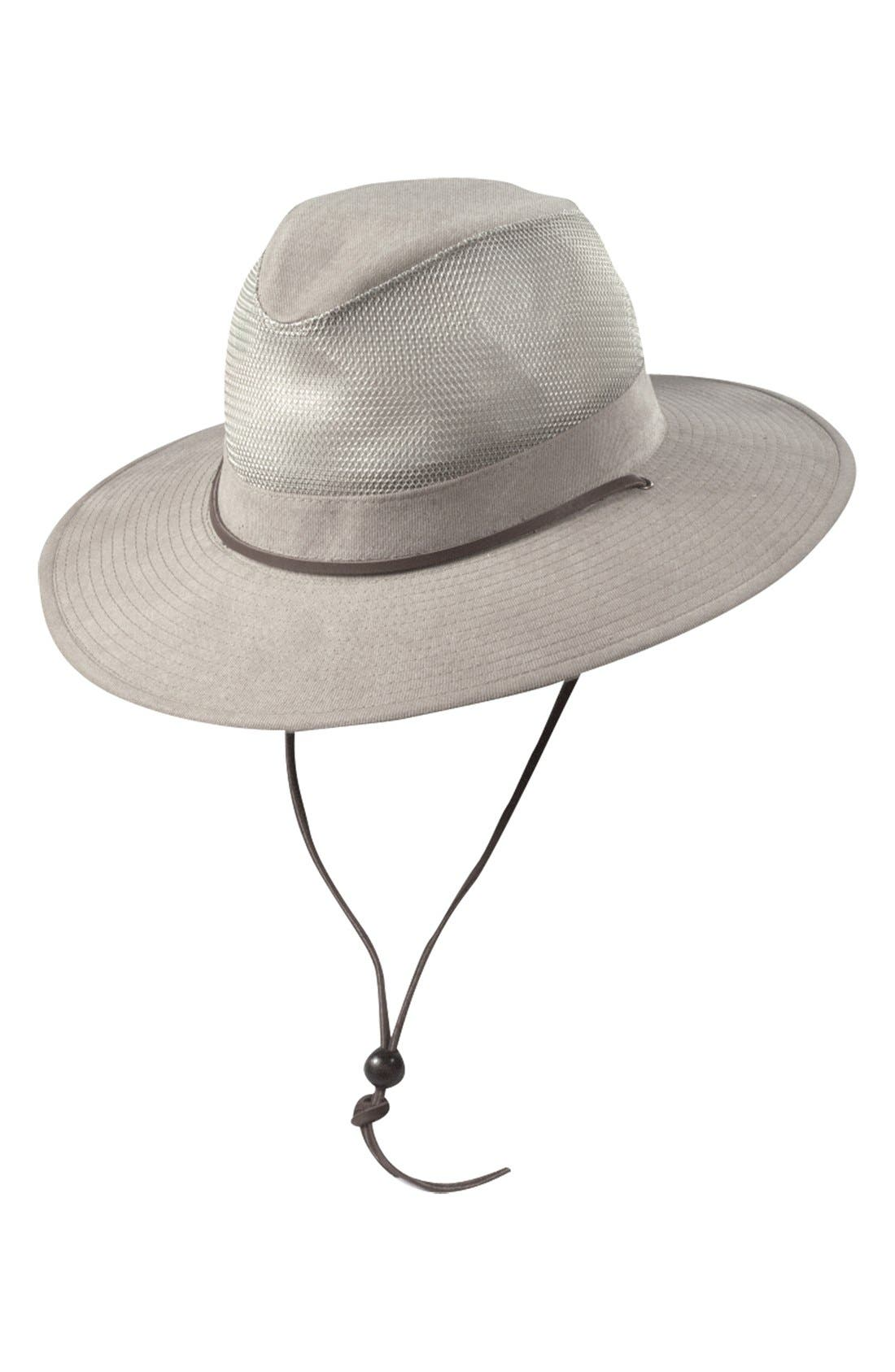 Brushed Twill Safari Hat,                         Main,                         color, KHAKI