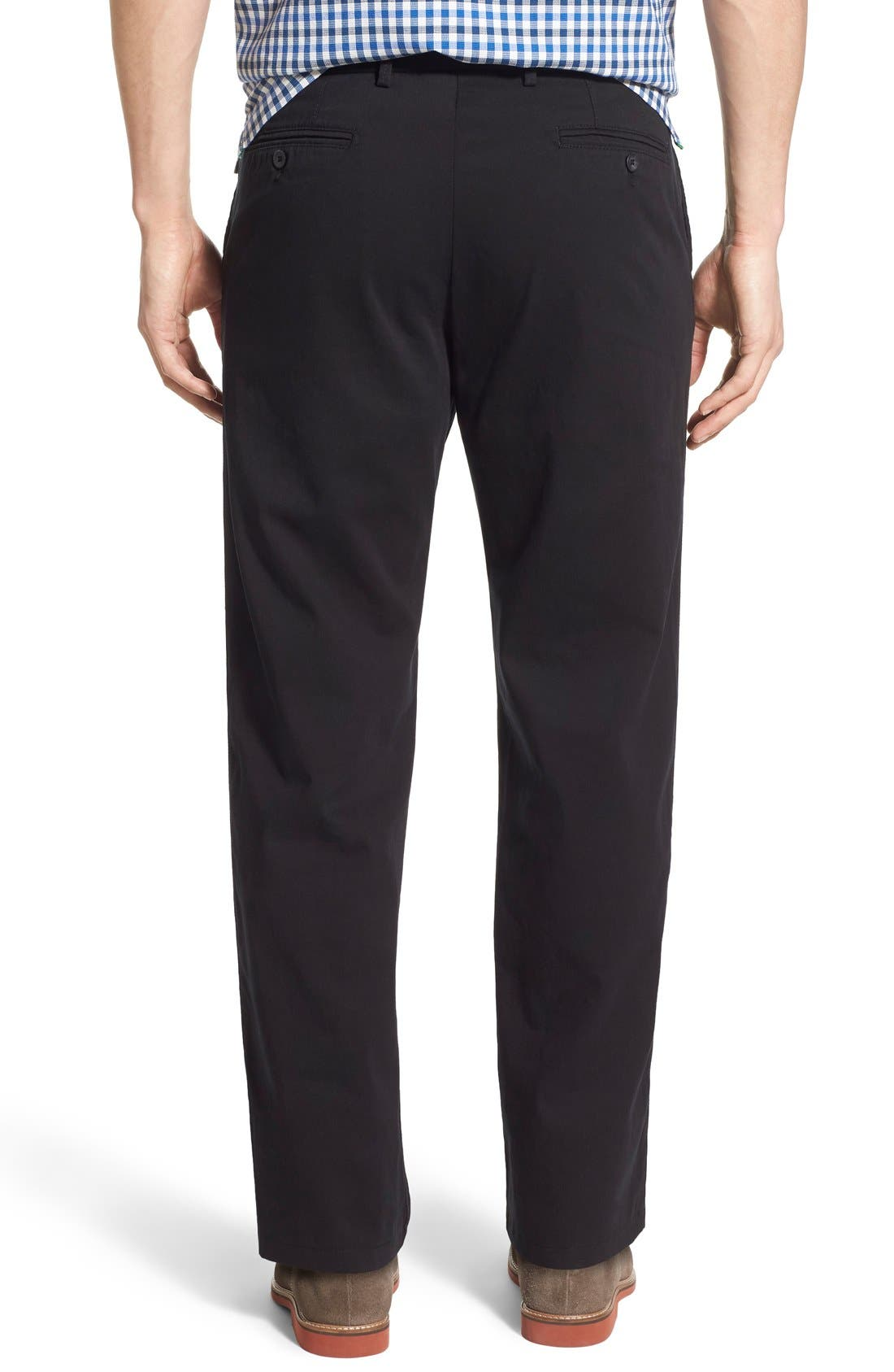 Mansfield Pima Cotton Pant,                             Alternate thumbnail 4, color,                             001
