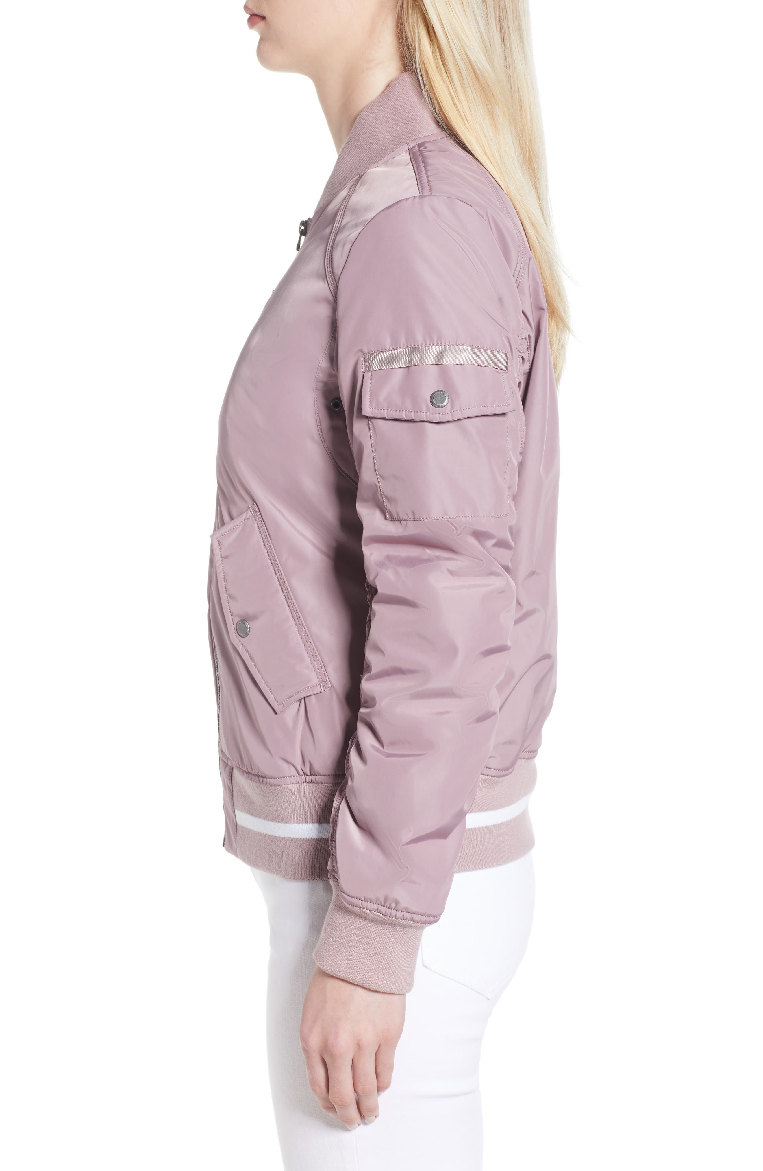 Foster Nylon Twill Bomber Jacket,                             Alternate thumbnail 9, color,
