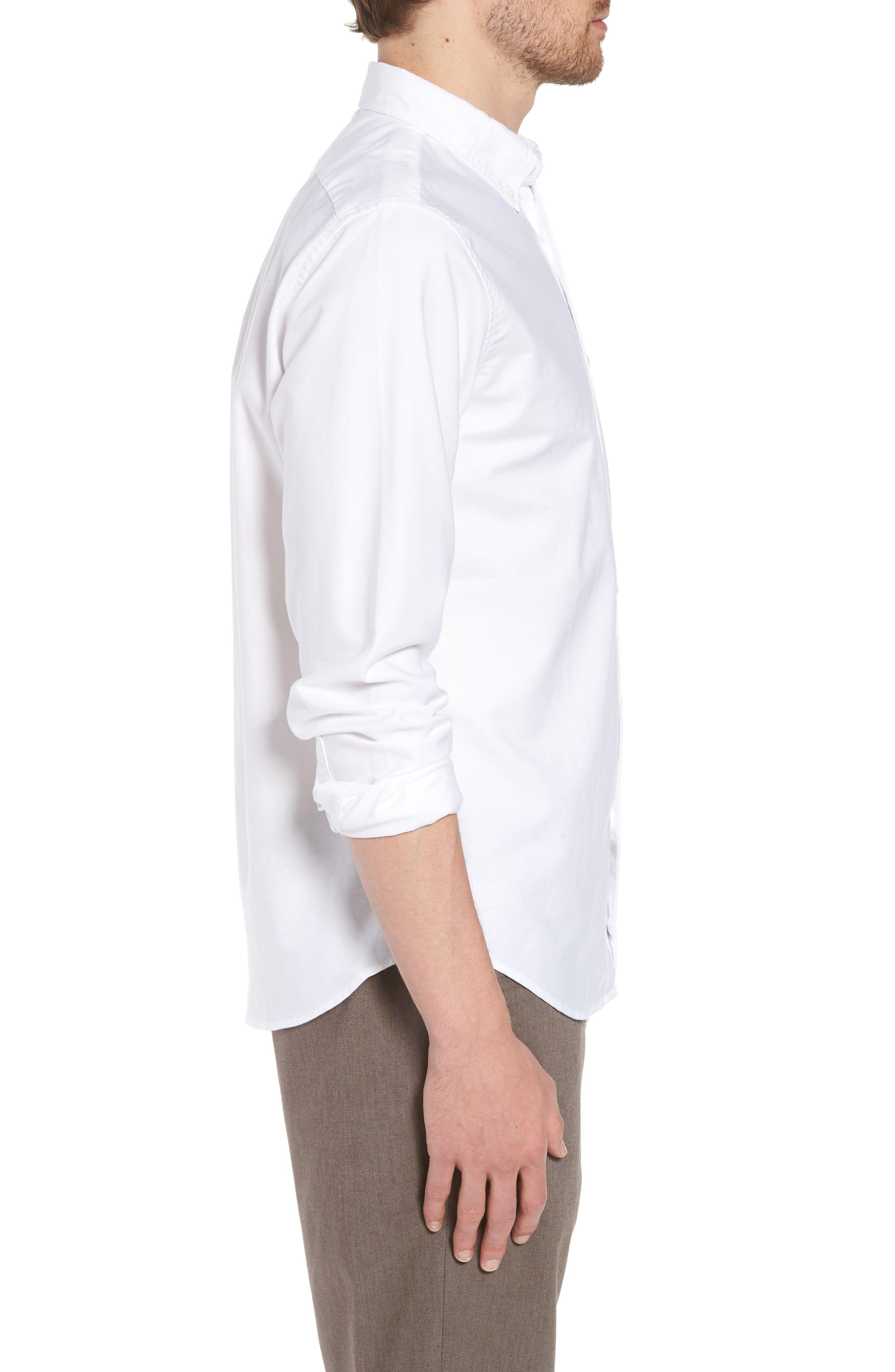 Slim Fit Stretch Pima Cotton Oxford Shirt,                             Alternate thumbnail 11, color,