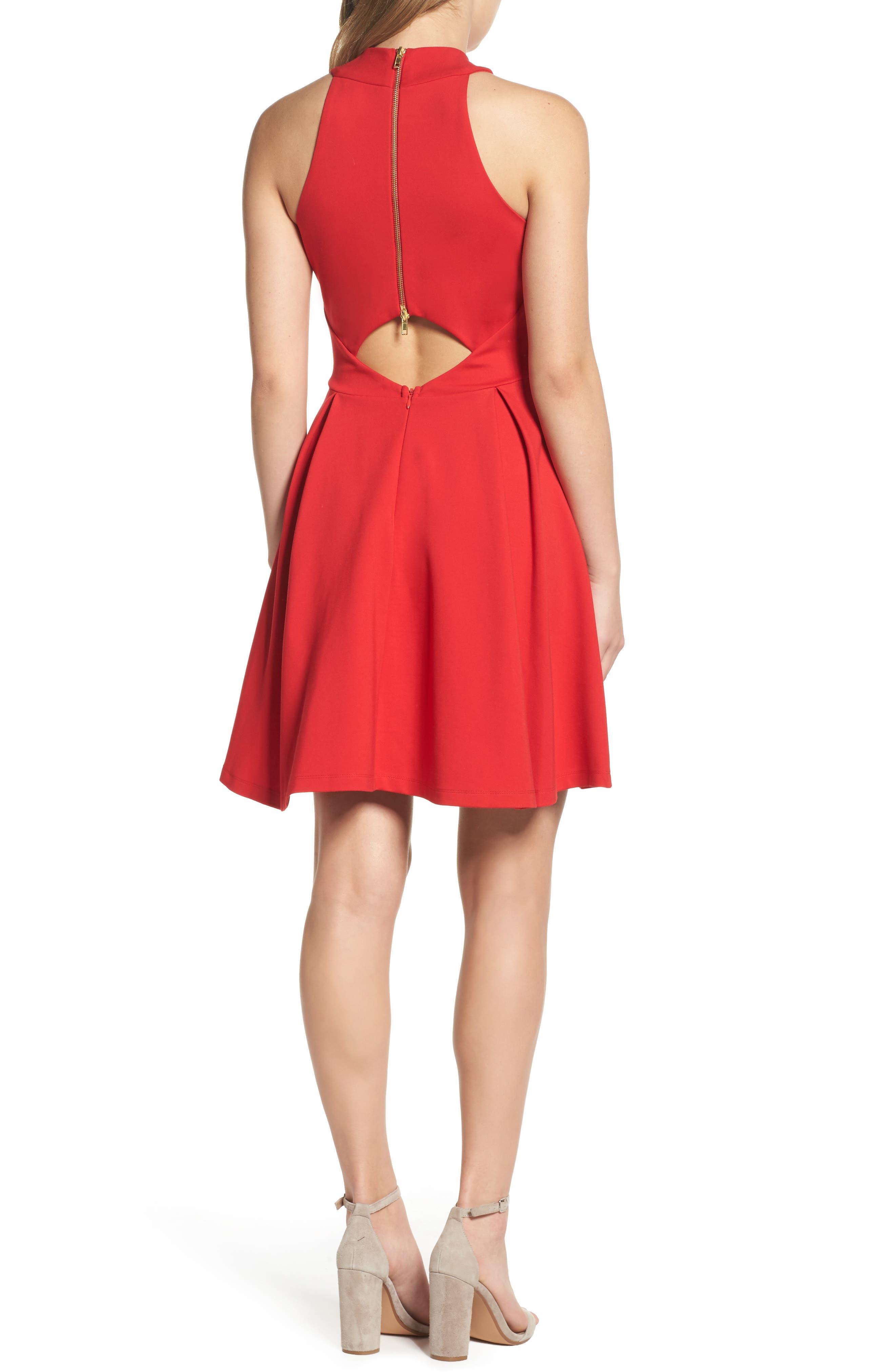 Rosa Fit & Flare Dress,                             Alternate thumbnail 2, color,