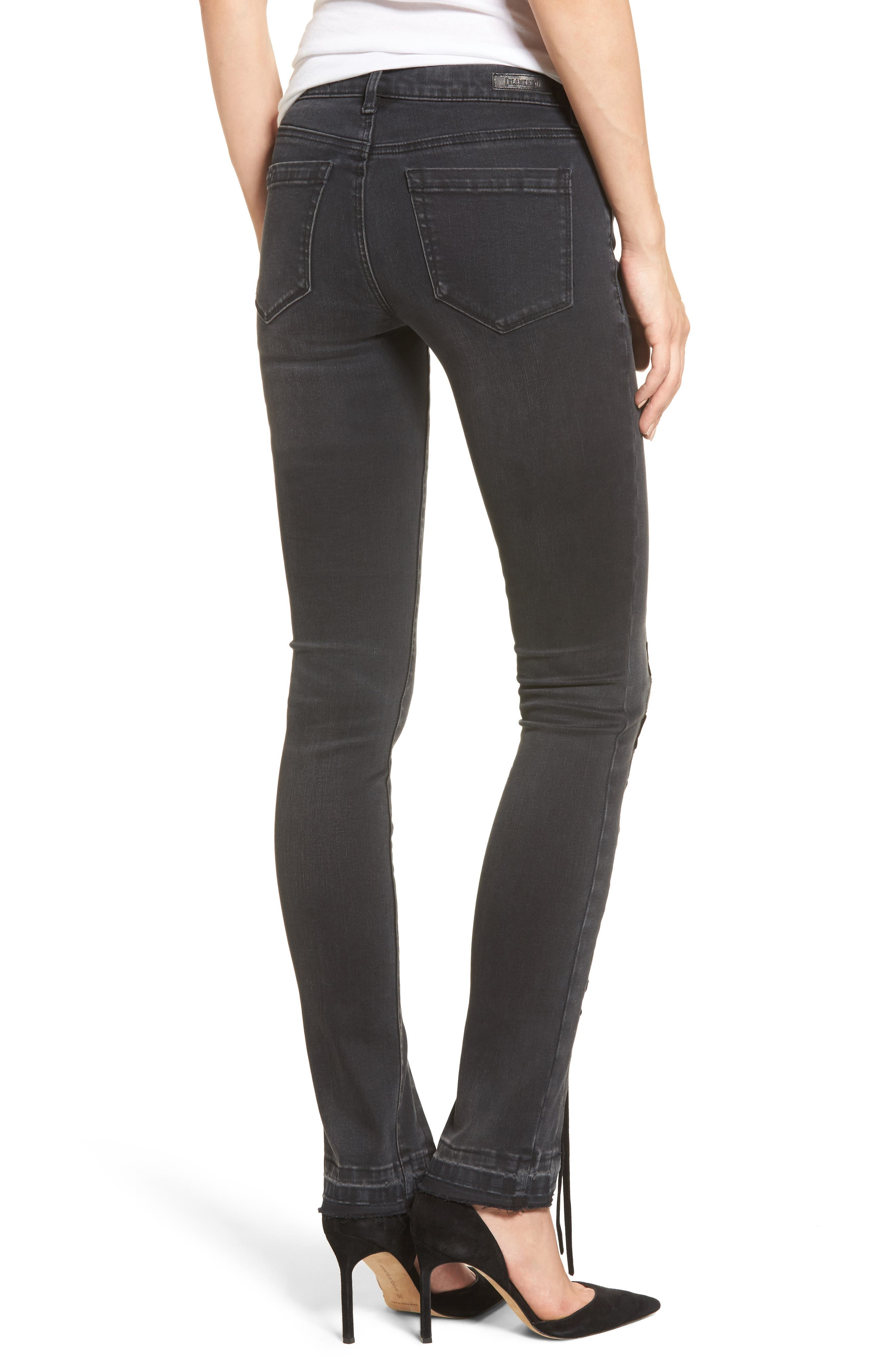 Crash Tactics Lace Up Skinny Jeans,                             Alternate thumbnail 2, color,