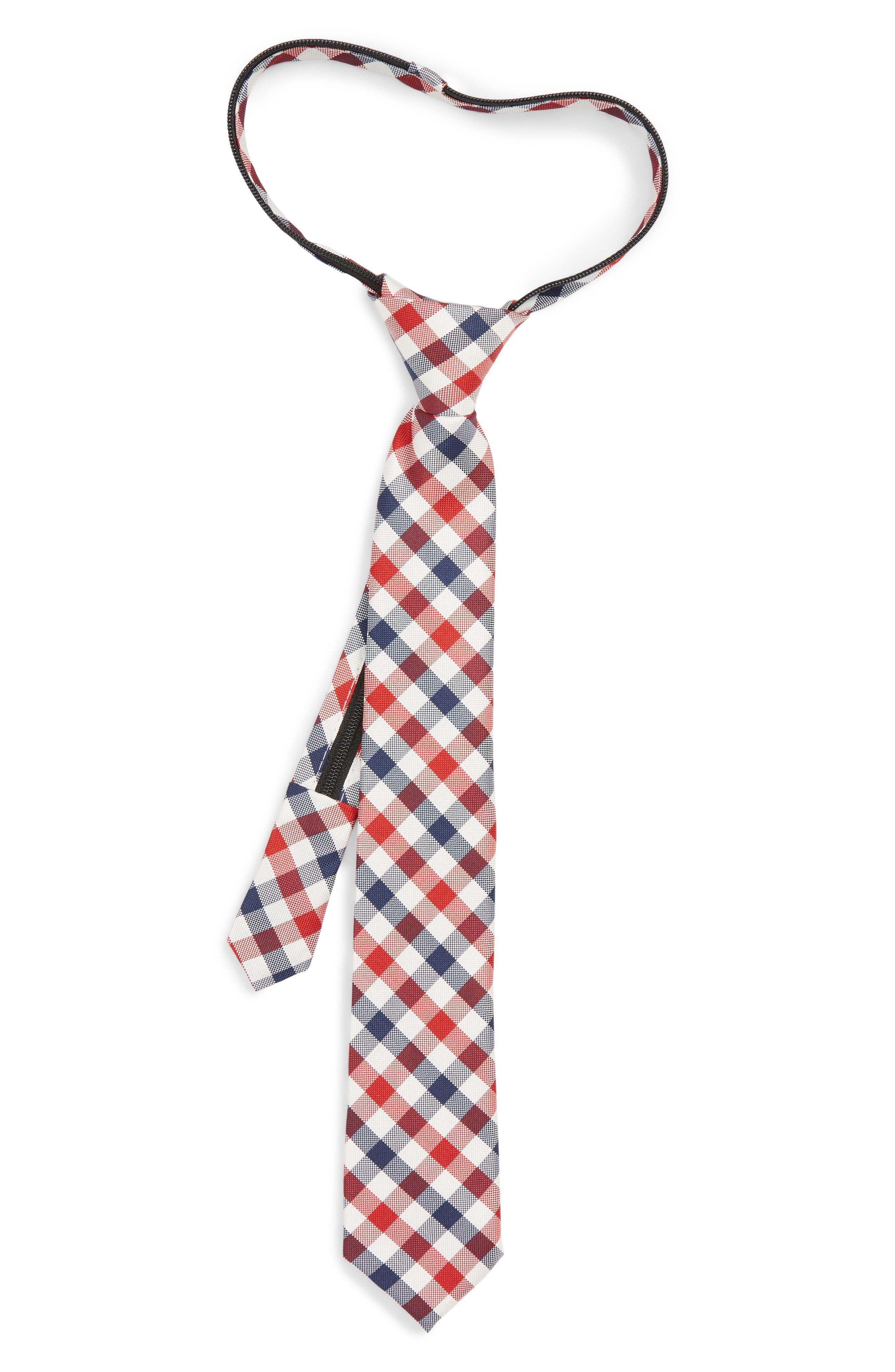 Natte Weave Silk Zip Tie,                         Main,                         color, NAVY