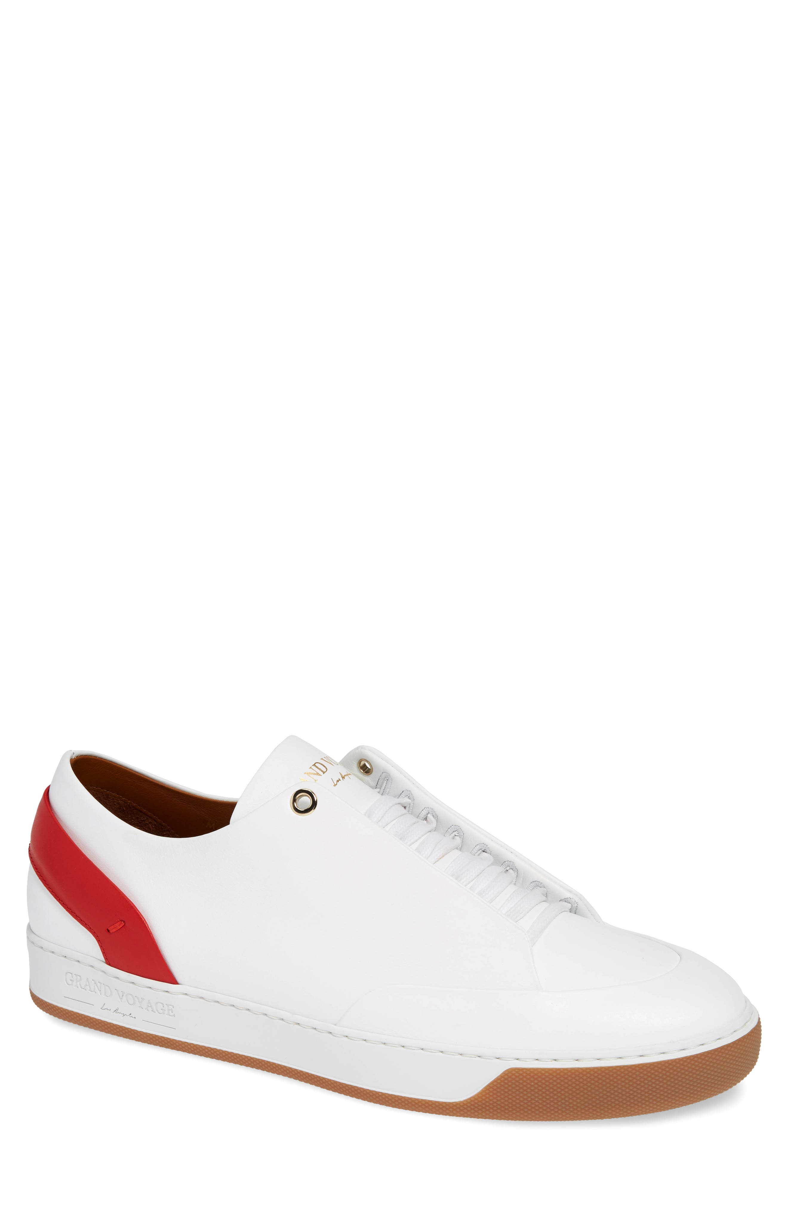 GRAND VOYAGE Avedon Sneaker in White/ Red/ Gum