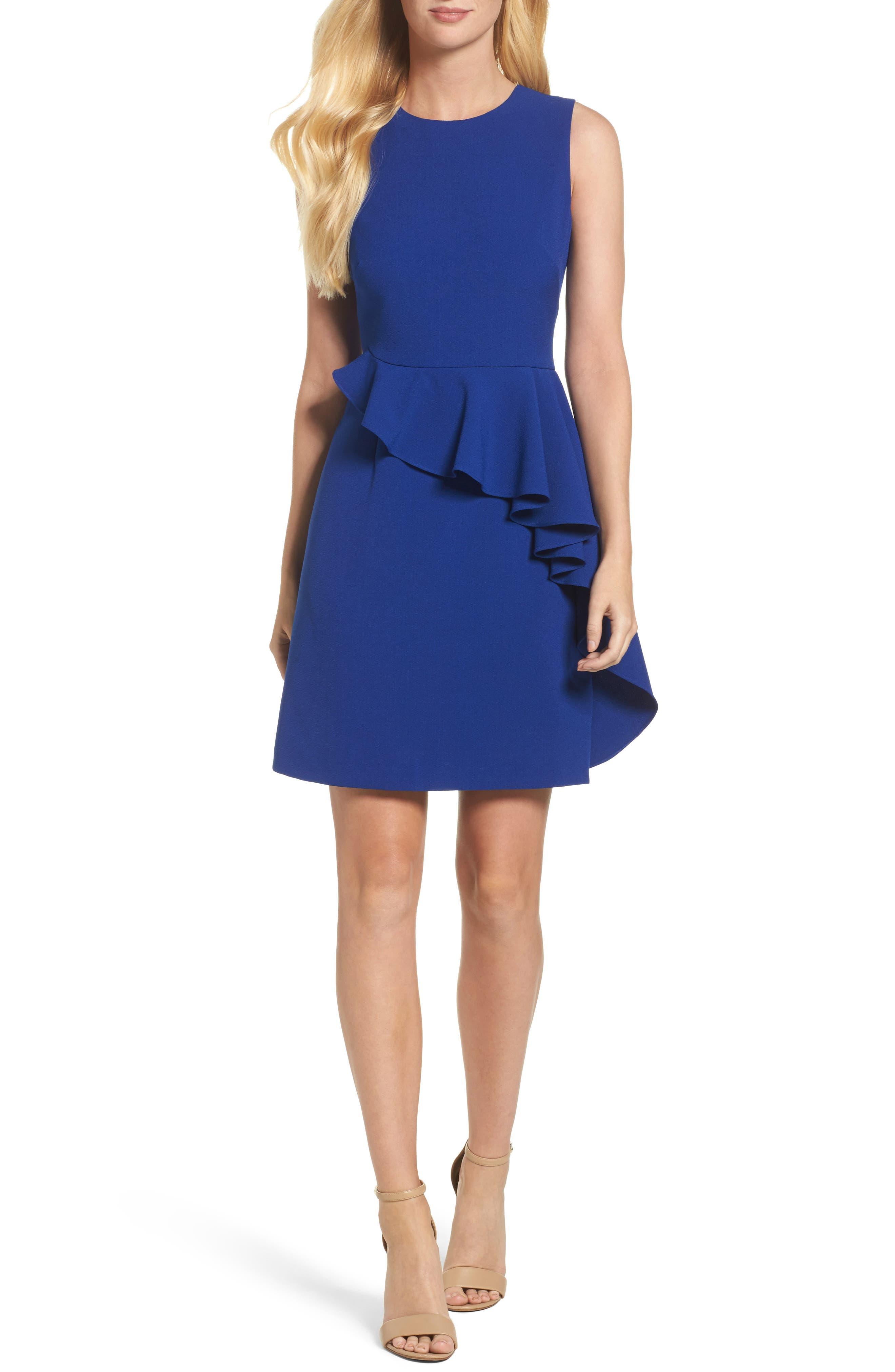 Ruffle Sheath Dress,                             Main thumbnail 1, color,                             498