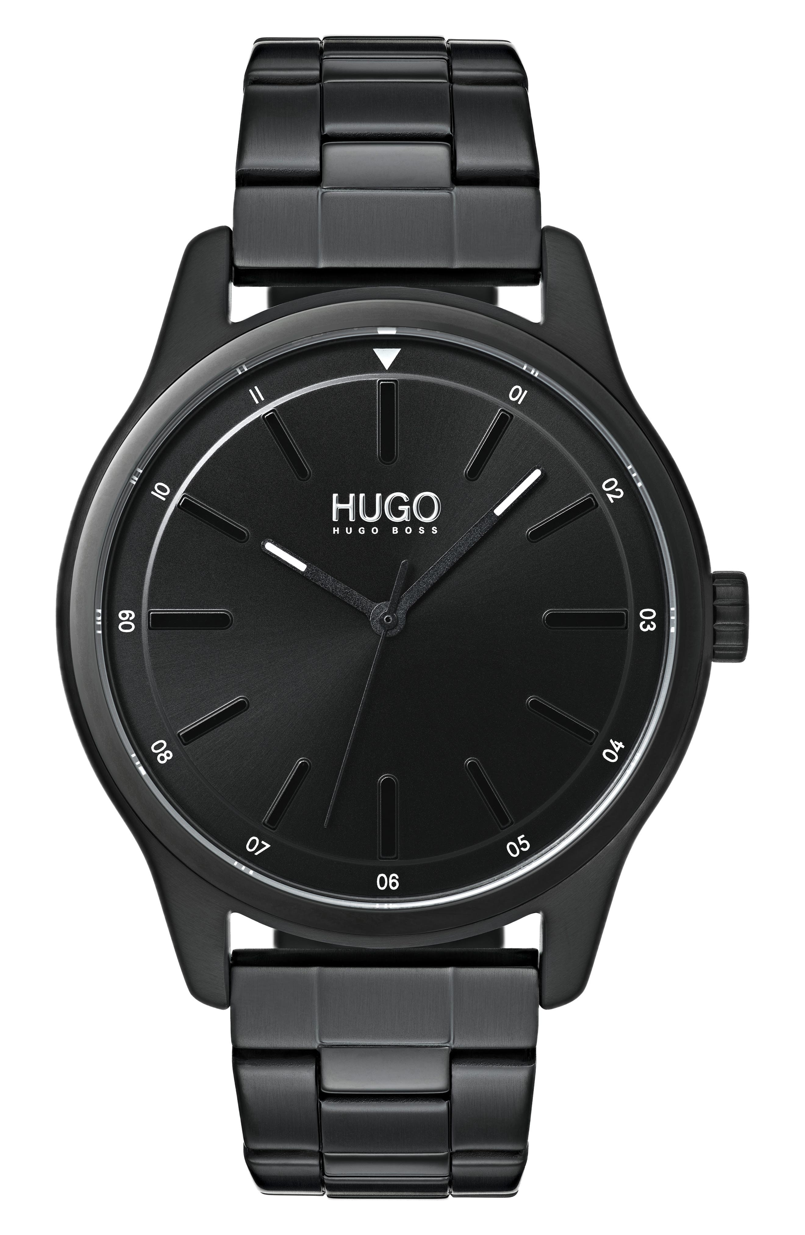 Bracelet Watch, 42mm,                             Main thumbnail 1, color,                             BLACK