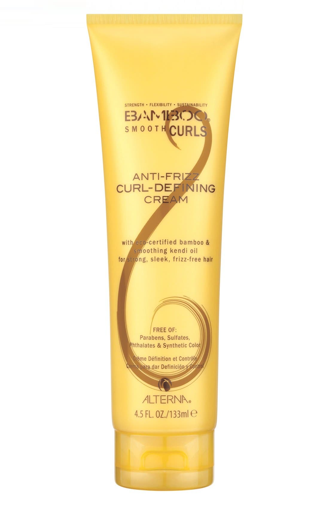 Bamboo Smooth Curls Anti-Frizz Curl Defining Cream,                             Main thumbnail 1, color,