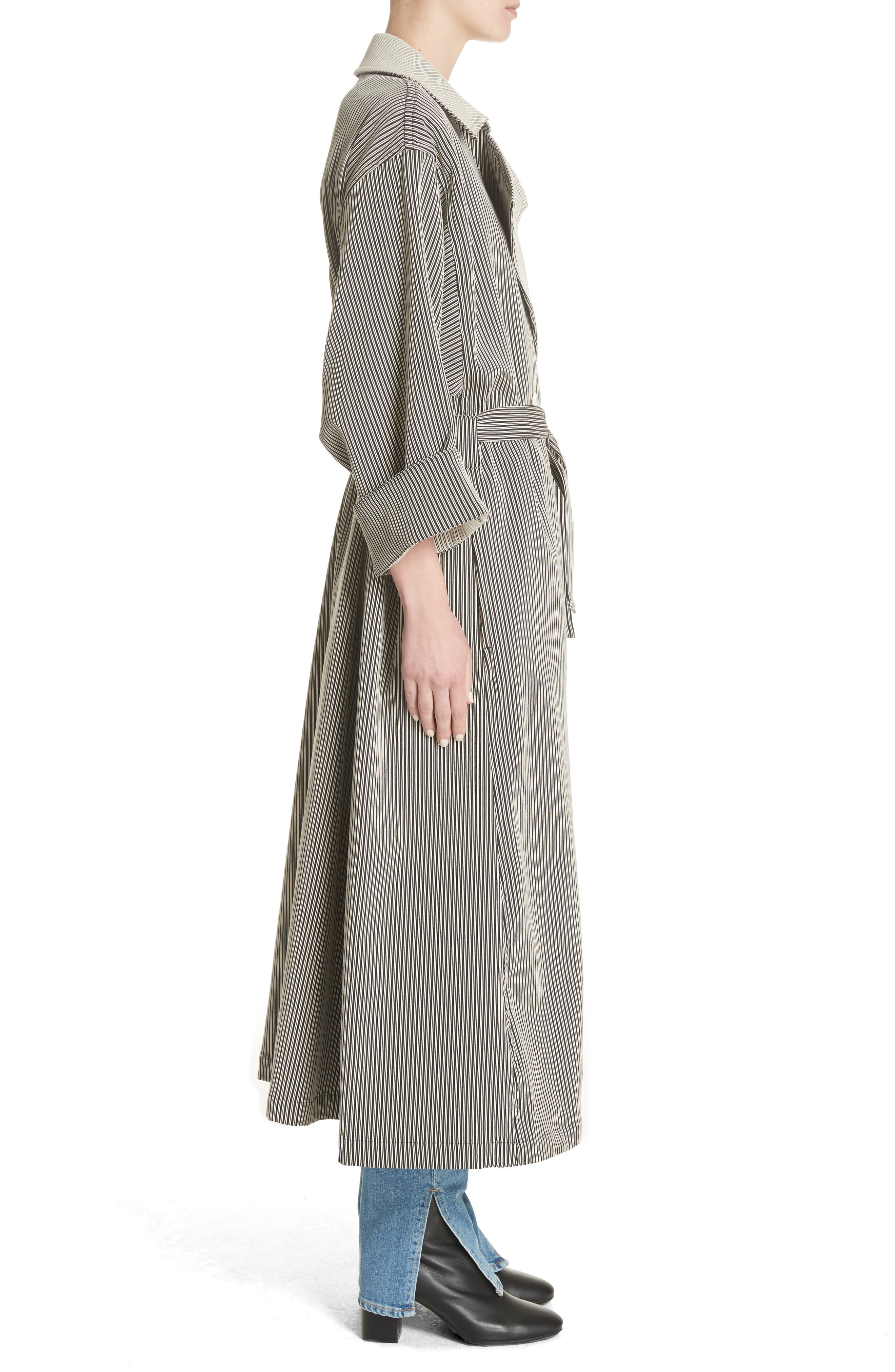 Casco Stretch Pinstripe Trench Coat,                             Alternate thumbnail 3, color,