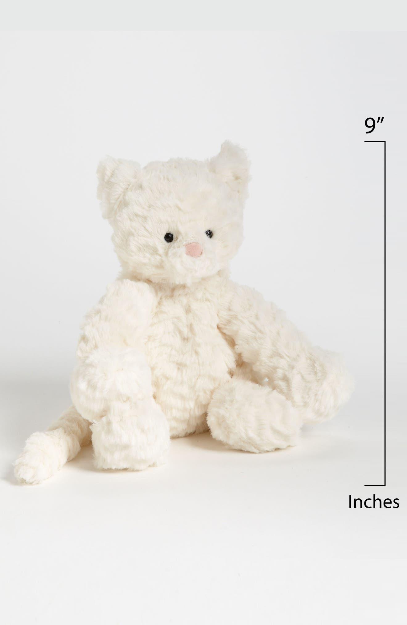 Fuddlewuddle Kitty Stuffed Animal,                             Alternate thumbnail 2, color,                             WHITE