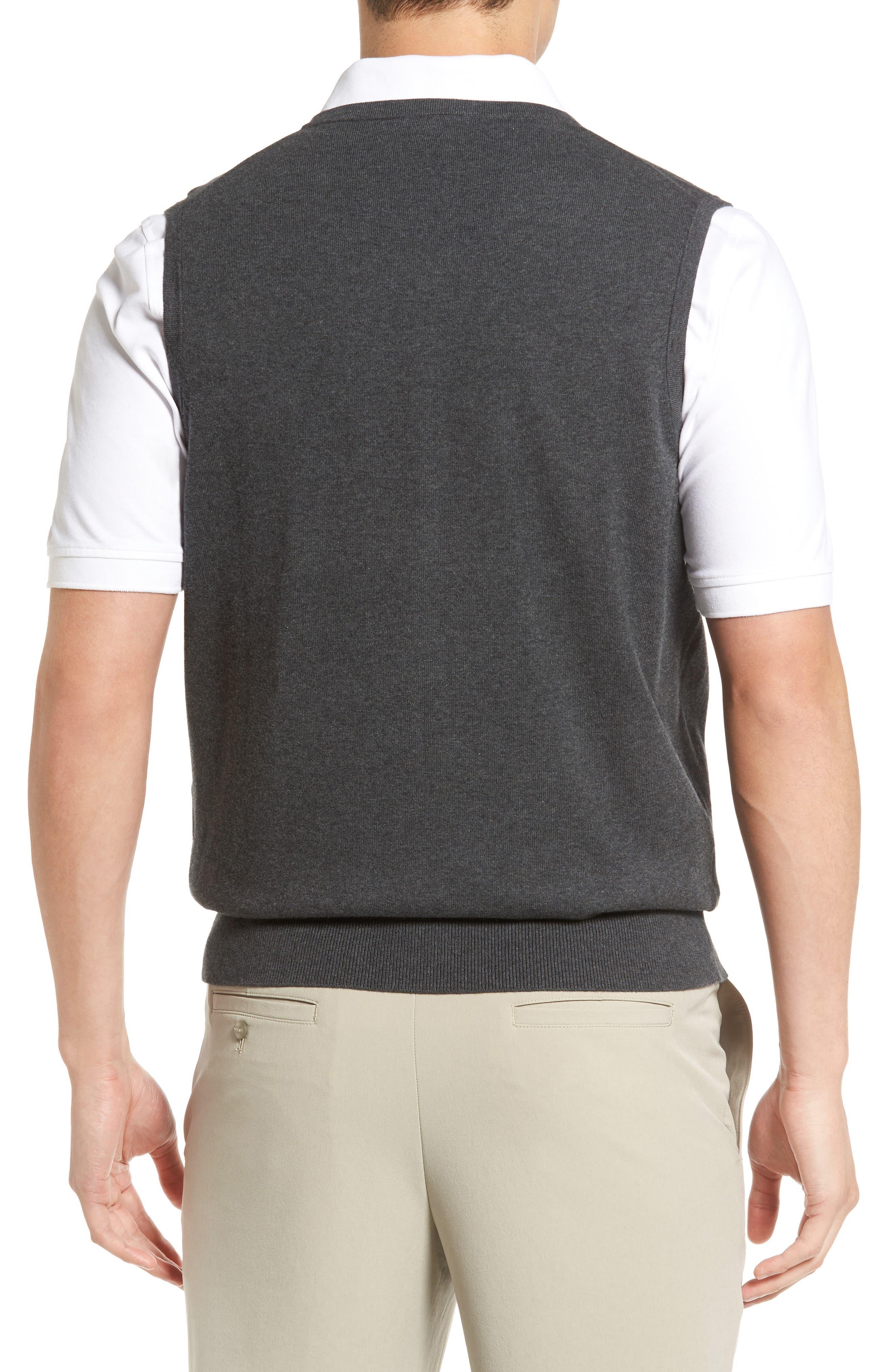 Lakemont V-Neck Sweater Vest,                             Alternate thumbnail 2, color,                             CHARCOAL HEATHER