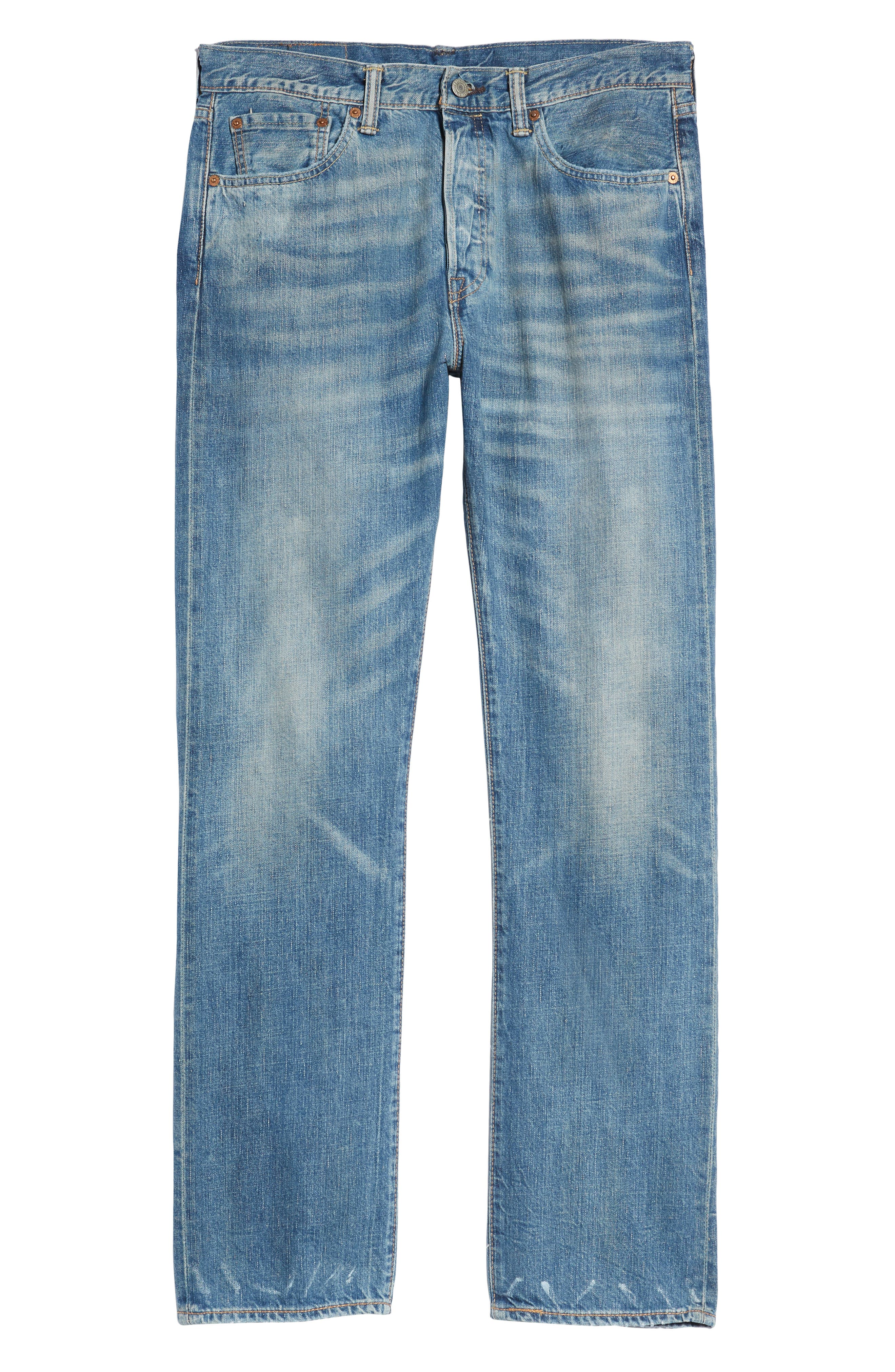 501<sup>®</sup> Original Straight Leg Jeans,                             Alternate thumbnail 6, color,
