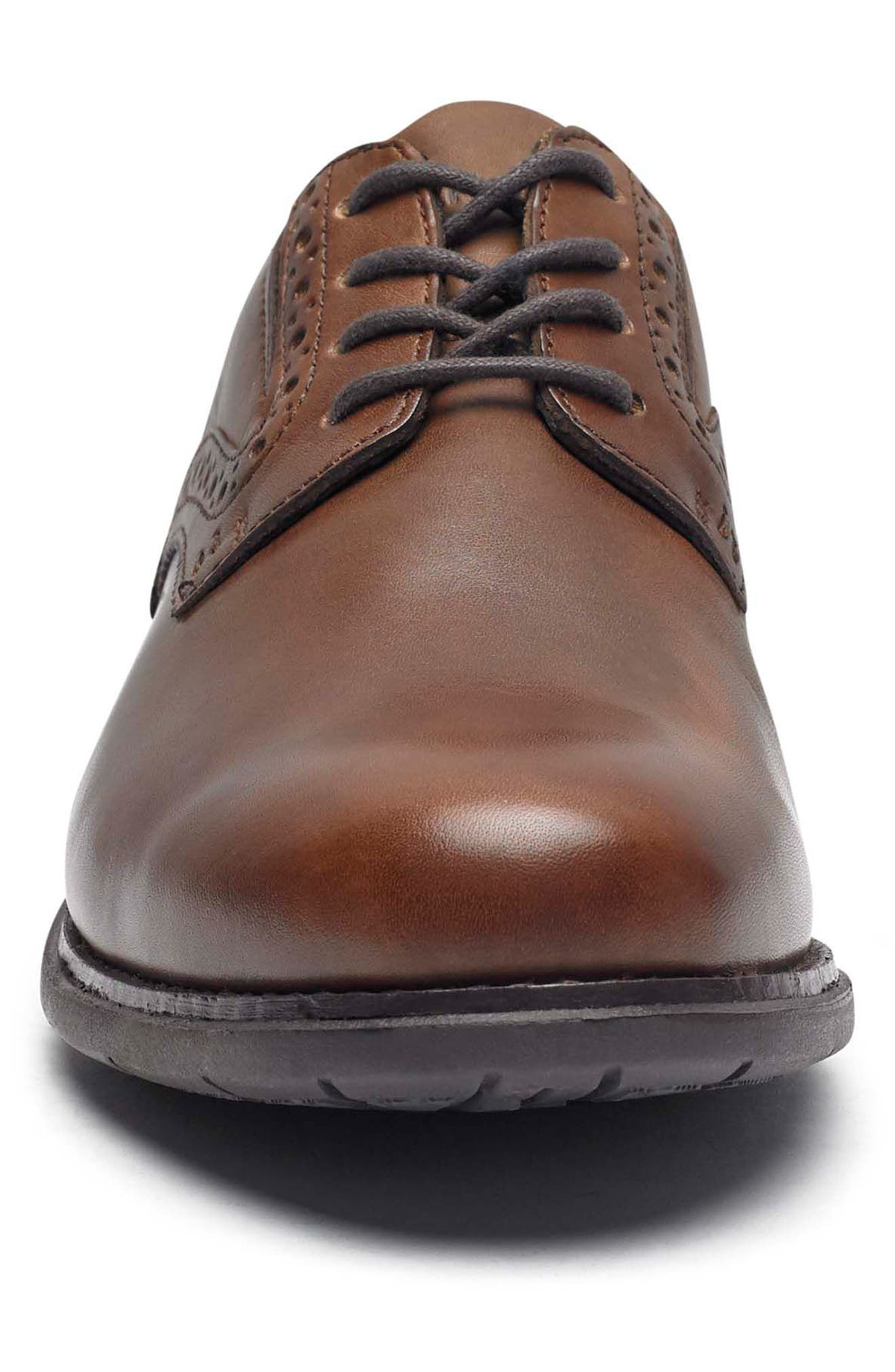 Total Motion Classic Plain Toe Derby,                             Alternate thumbnail 4, color,                             NEW BROWN LEATHER