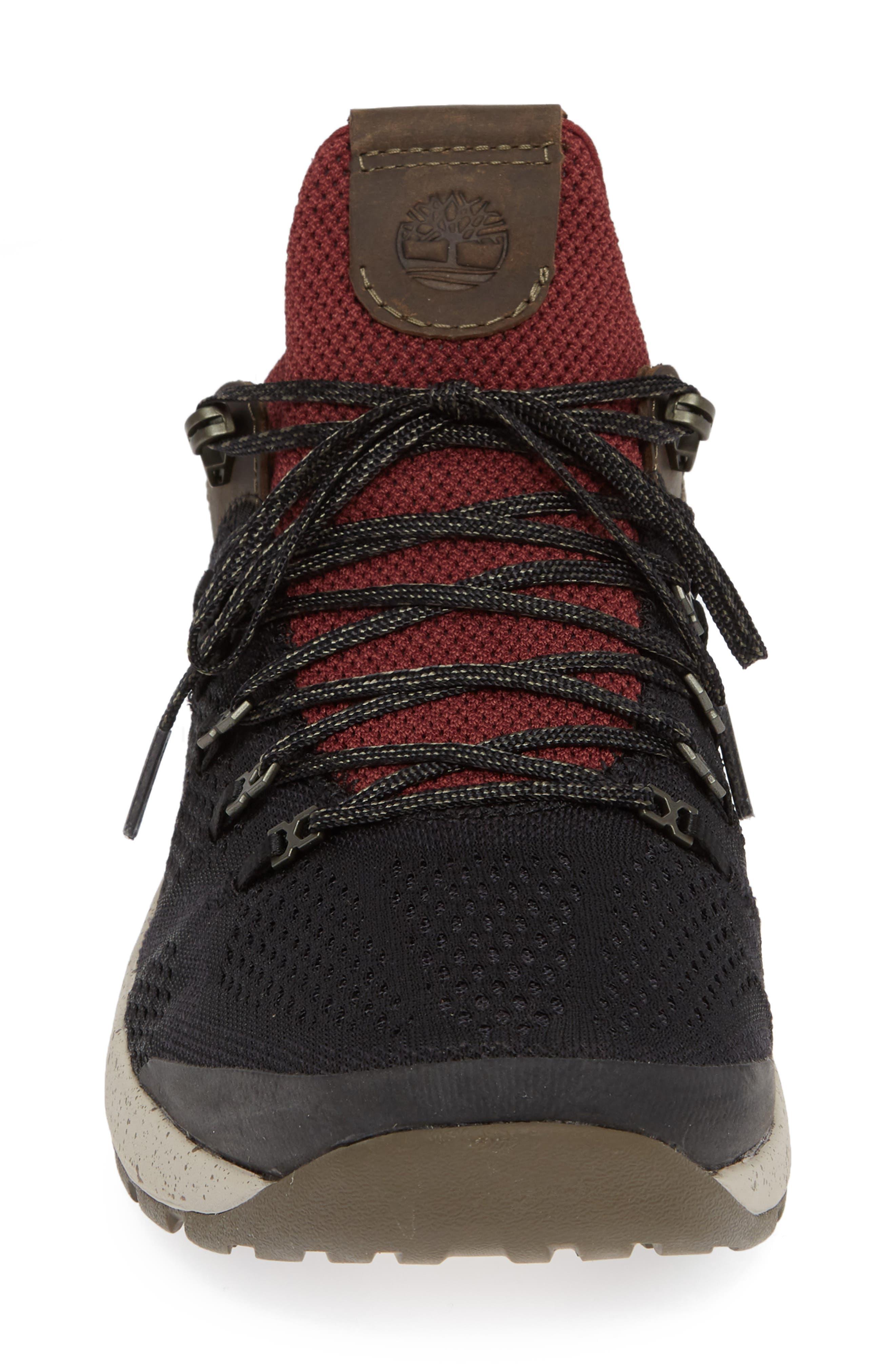 FlyRoam Trail Sneaker,                             Alternate thumbnail 4, color,                             BLACK/ BURGUNDY