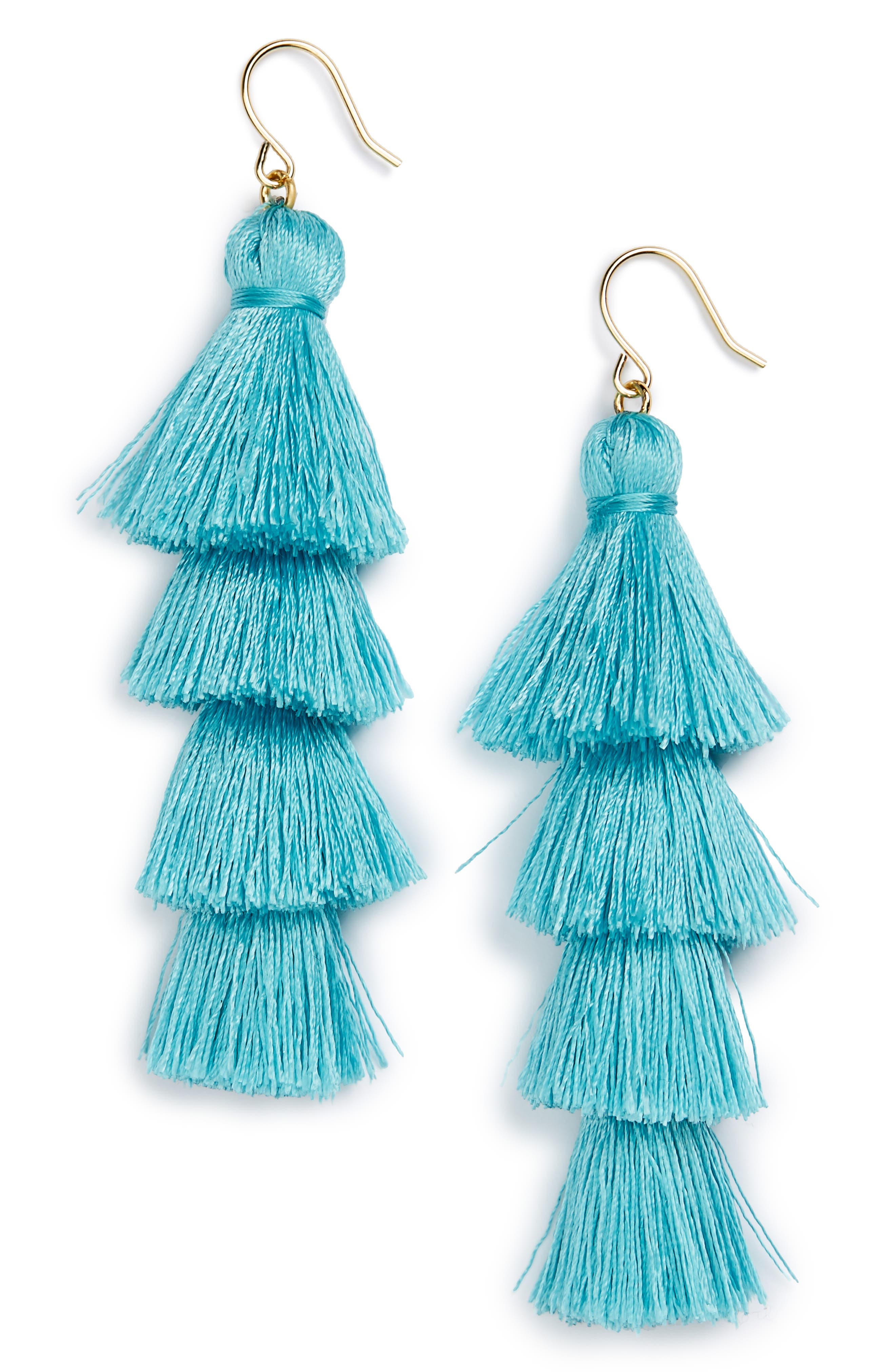 BAUBLEBAR Gabriela Fringe Earrings, Main, color, 400