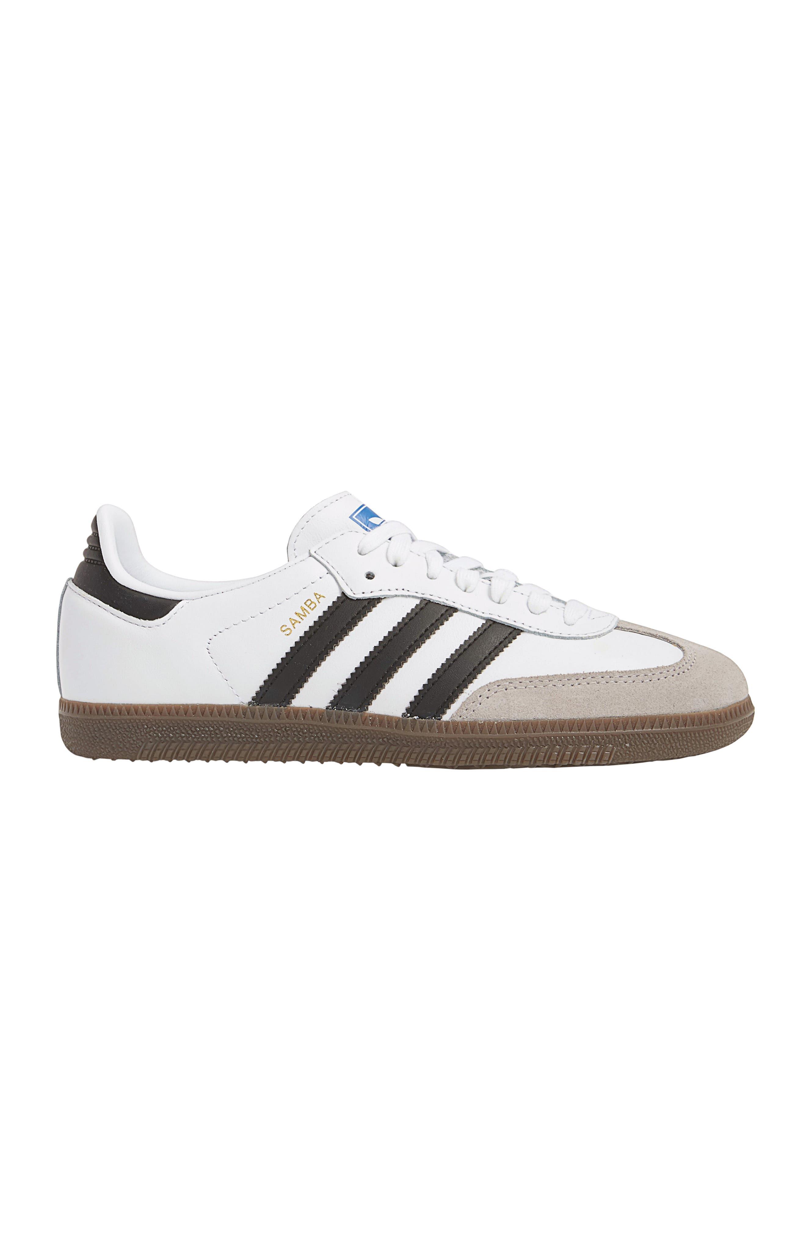 premium selection c386d 2ab46 ADIDAS ORIGINALS. Samba Original Leather Suede Sneakers, White Black Granite  ...